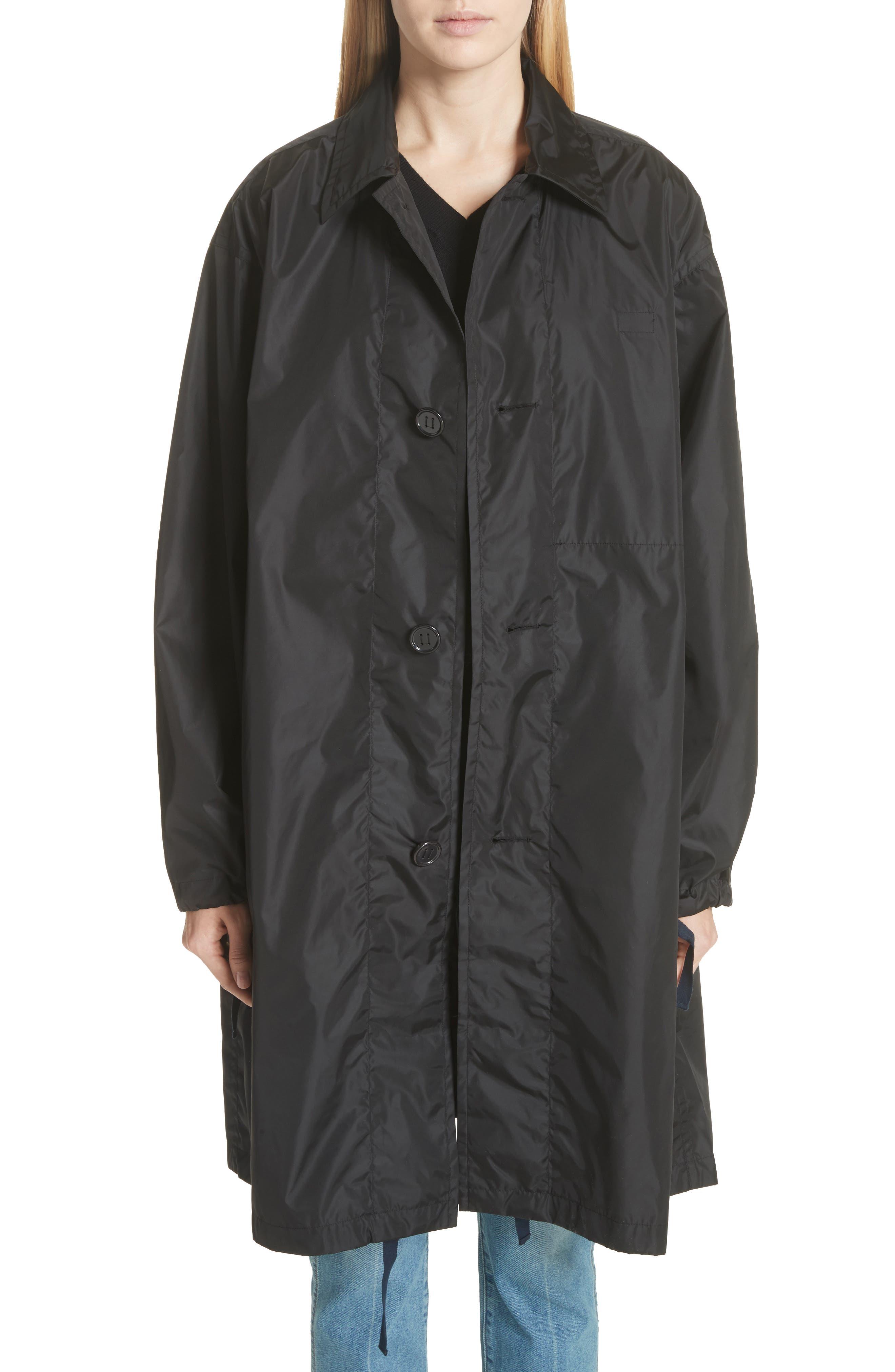 Raincoat with Inside Suspenders,                         Main,                         color, Black