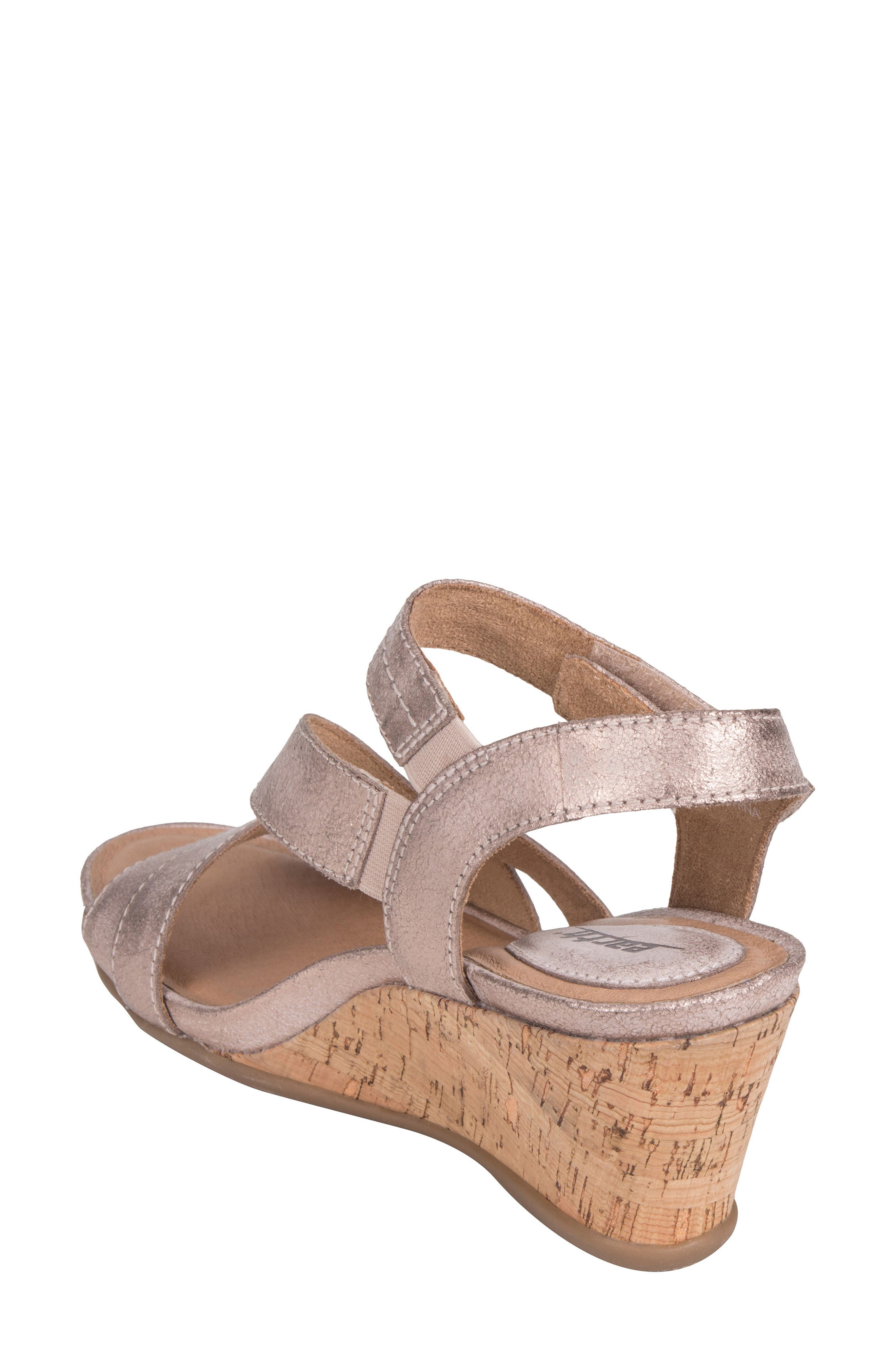 Thistle Wedge Sandal,                             Alternate thumbnail 2, color,                             Pink Leather