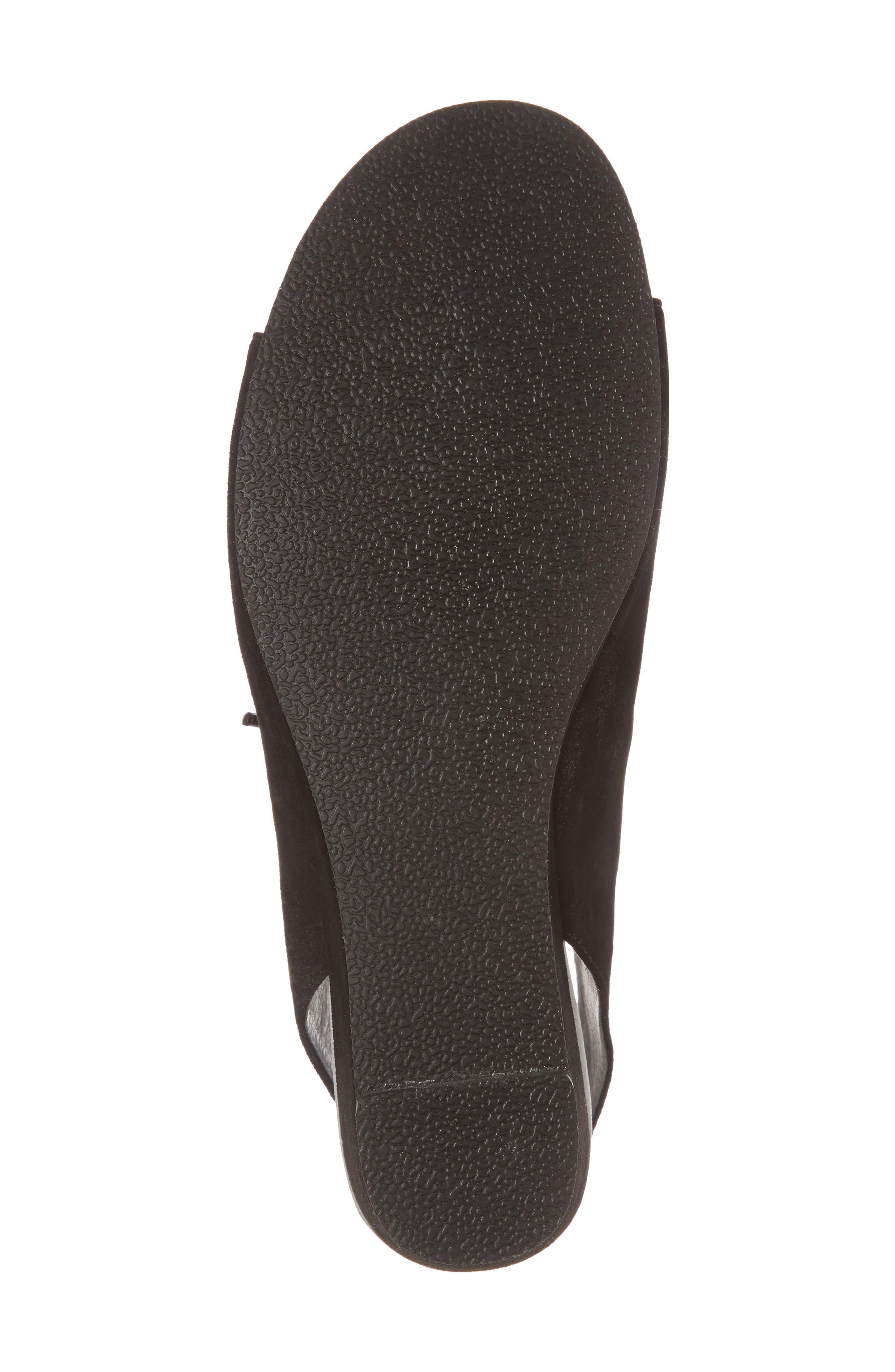 Rich Wedge Sandal,                             Alternate thumbnail 6, color,                             Black Suede