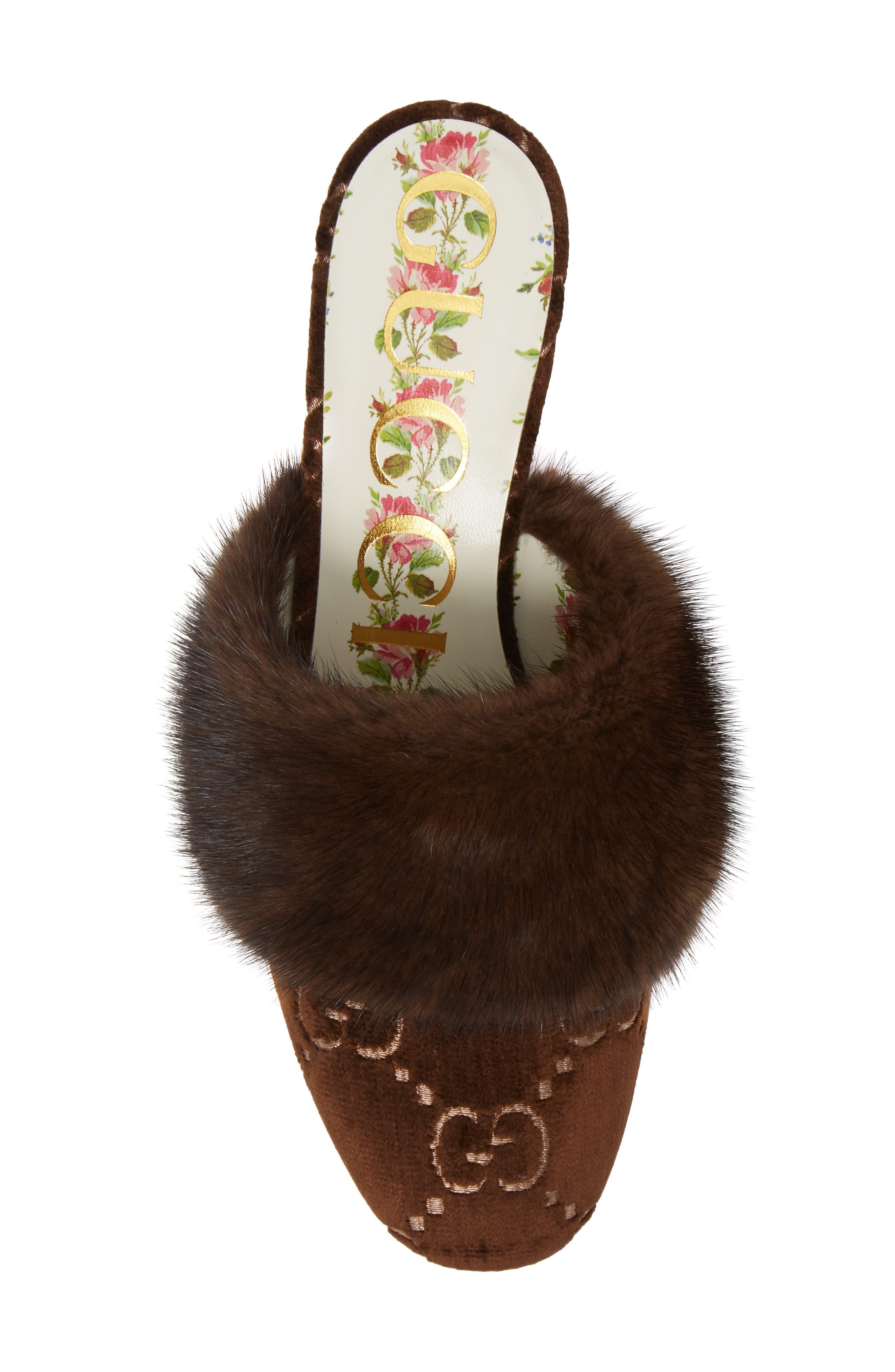 Alternate Image 5  - Gucci Candy Genuine Mink Fur Mule (Women)