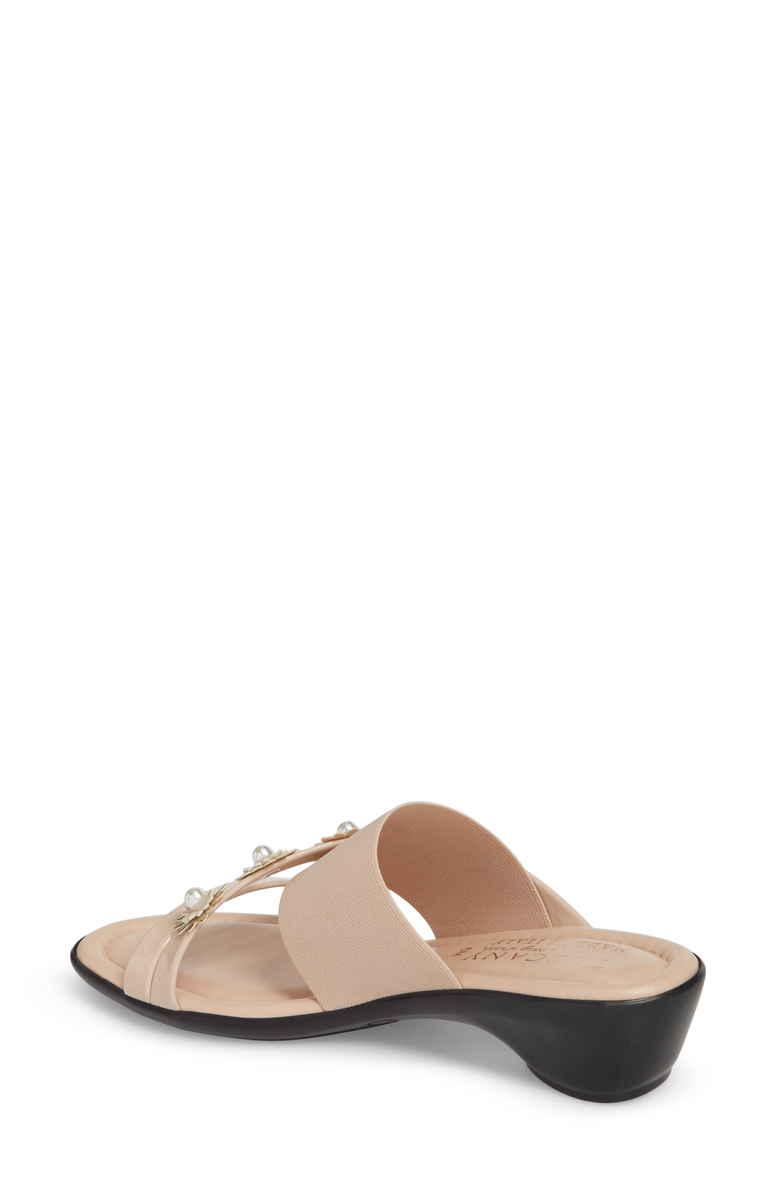 by Easy Street<sup>®</sup> Paradiso Slide Sandal,                             Alternate thumbnail 2, color,                             Nude Patent/ Stretch