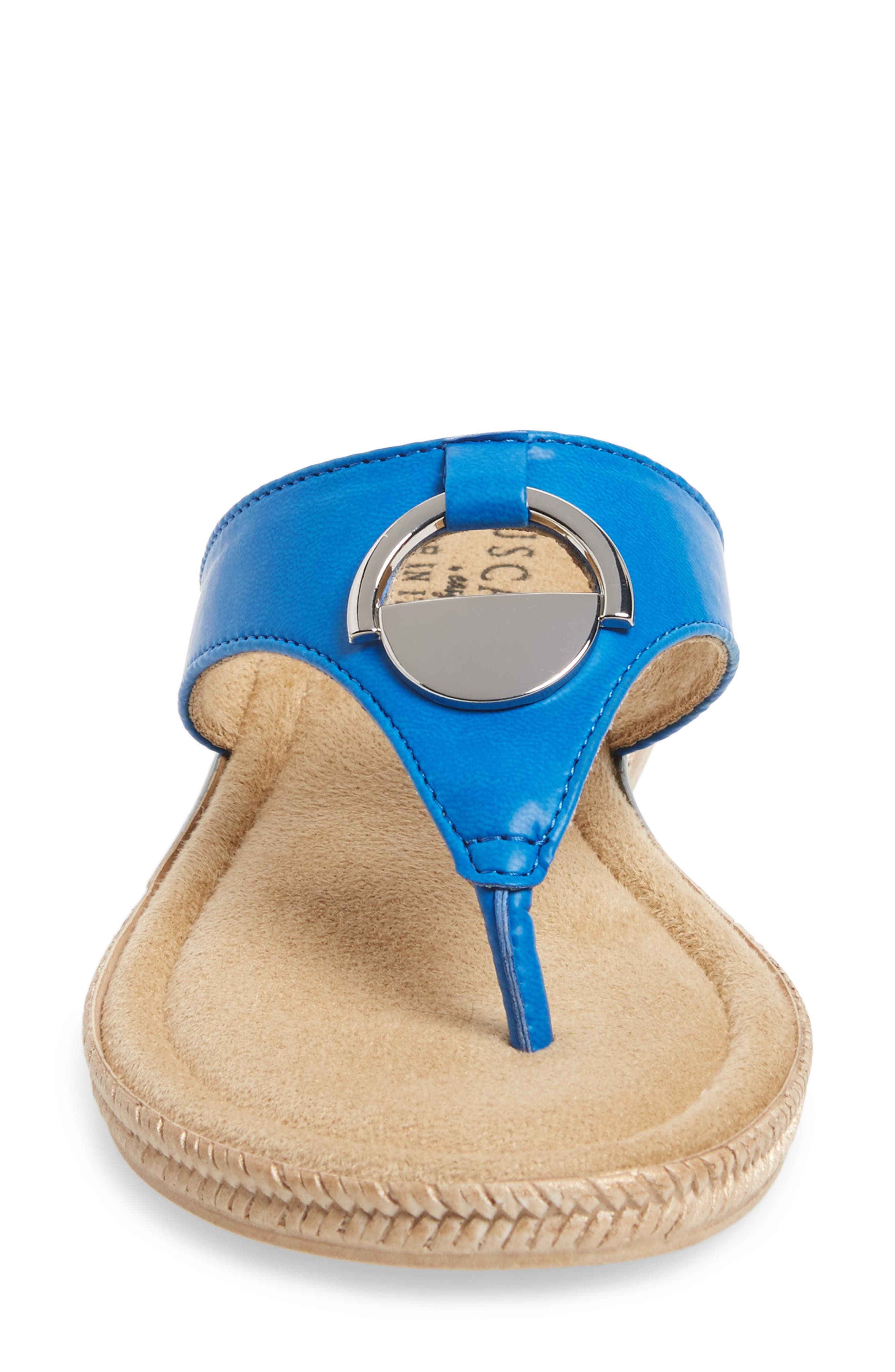 by Easy Street<sup>®</sup> Belinda Flip Flop,                             Alternate thumbnail 4, color,                             Blue Faux Leather