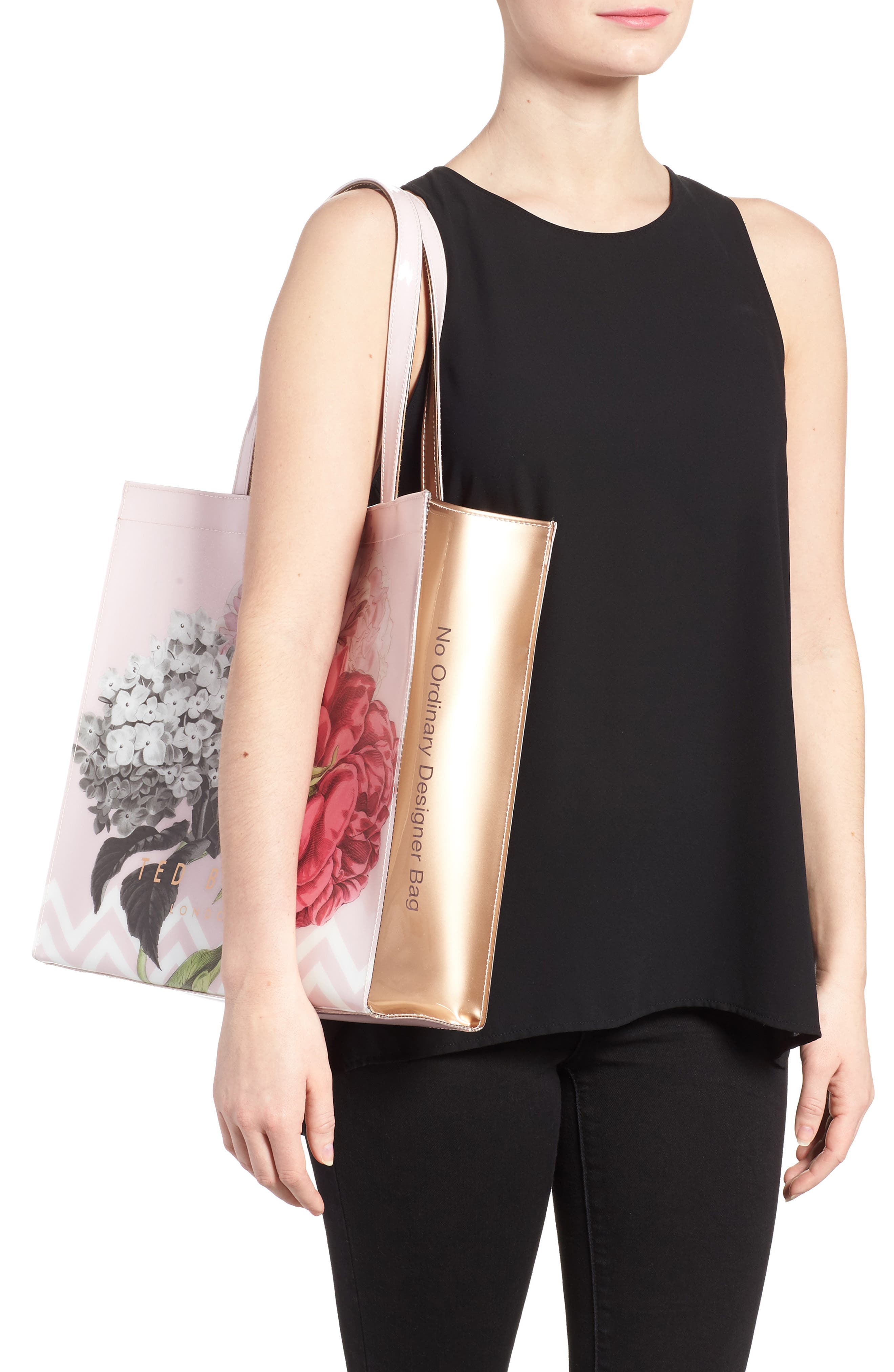 Palace Gardens Large Icon Tote,                             Alternate thumbnail 2, color,                             Dusky Pink