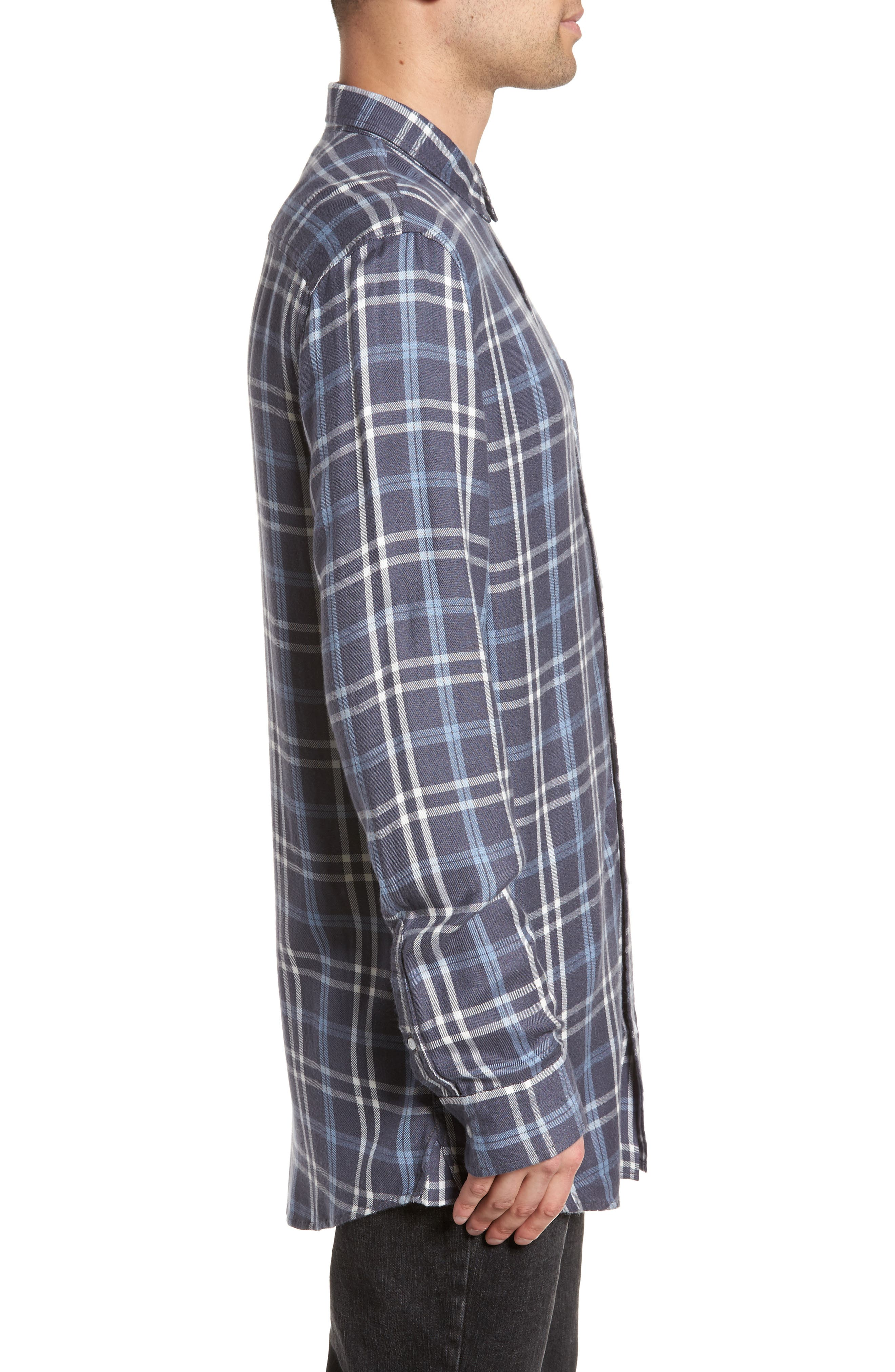 Yarn Dyed Plaid Shirt,                             Alternate thumbnail 3, color,                             Blue Grisaille Plaid