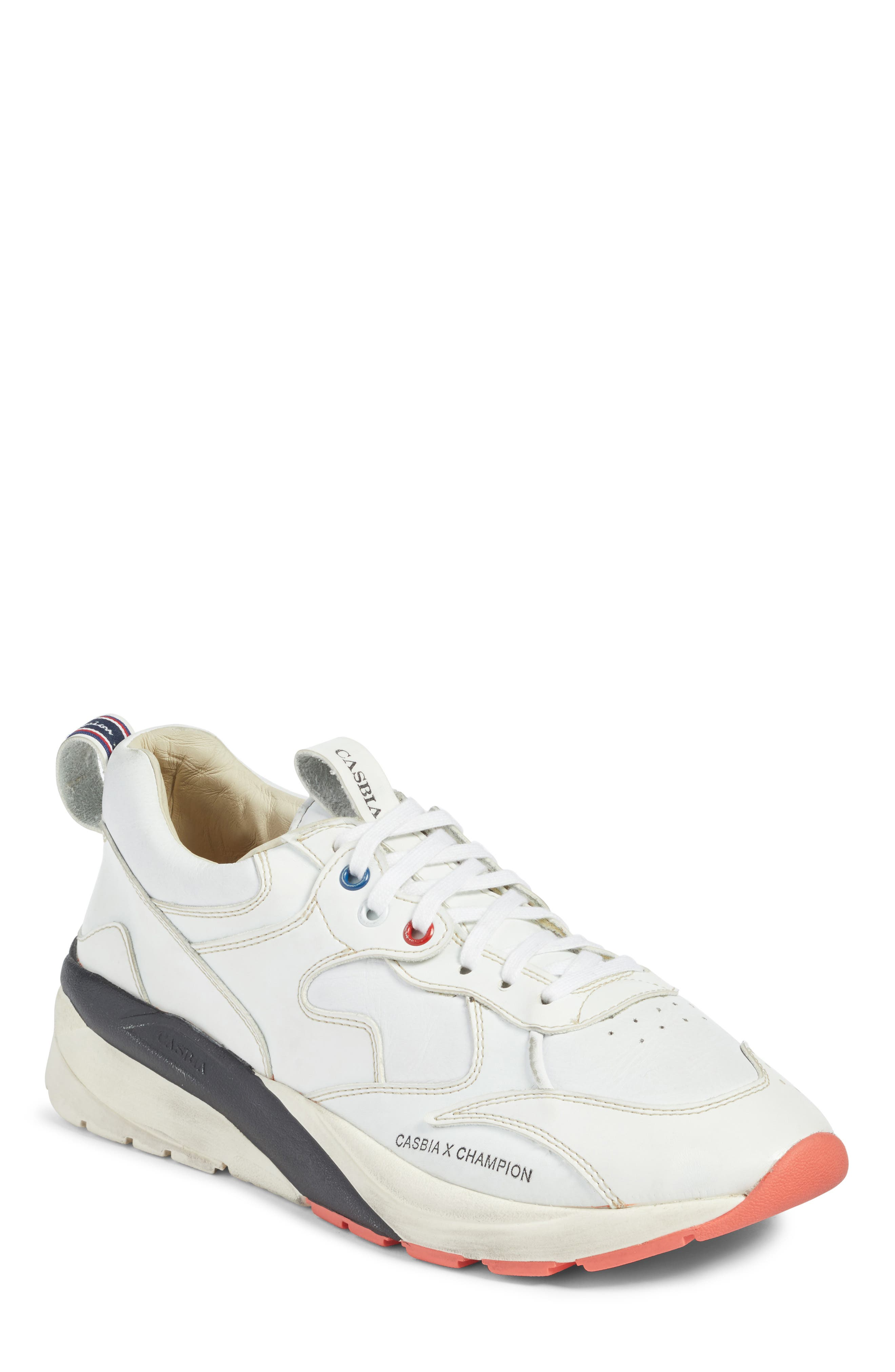 Champion Veloce ATL Sneaker,                         Main,                         color, White Leather