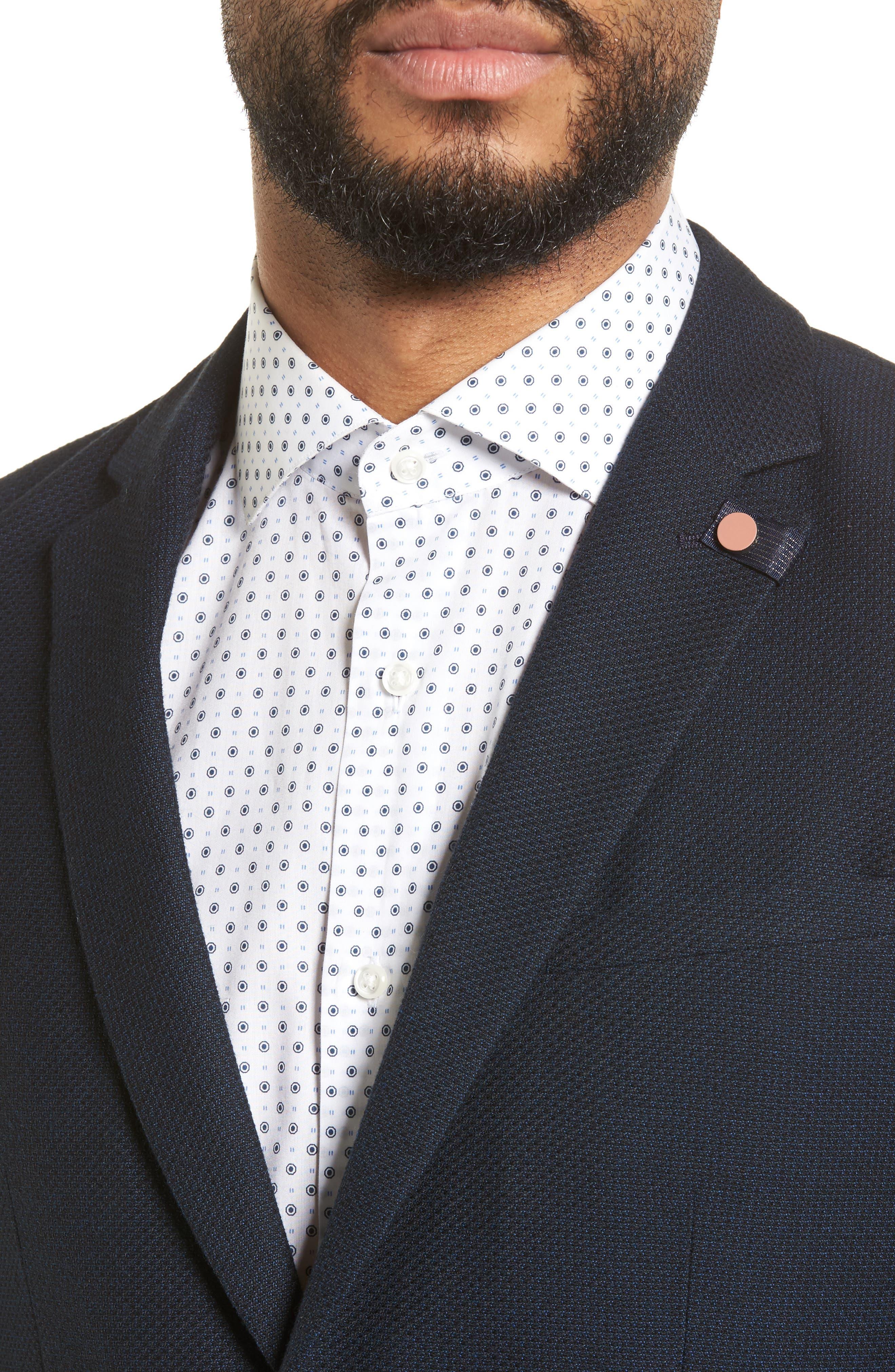 Olsson Textured Sport Coat,                             Alternate thumbnail 4, color,                             Navy