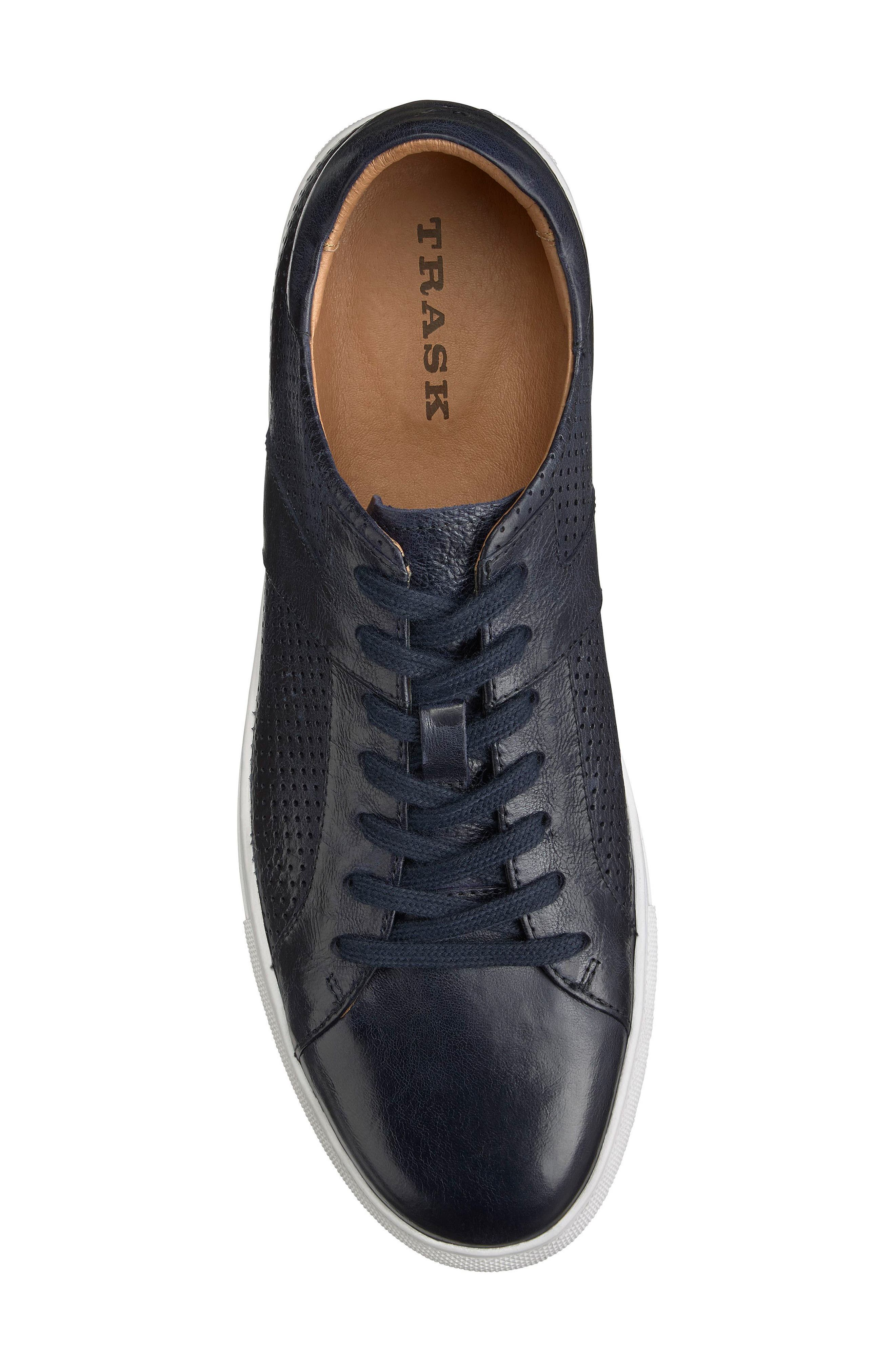 Aaron Sneaker,                             Alternate thumbnail 5, color,                             Navy Leather