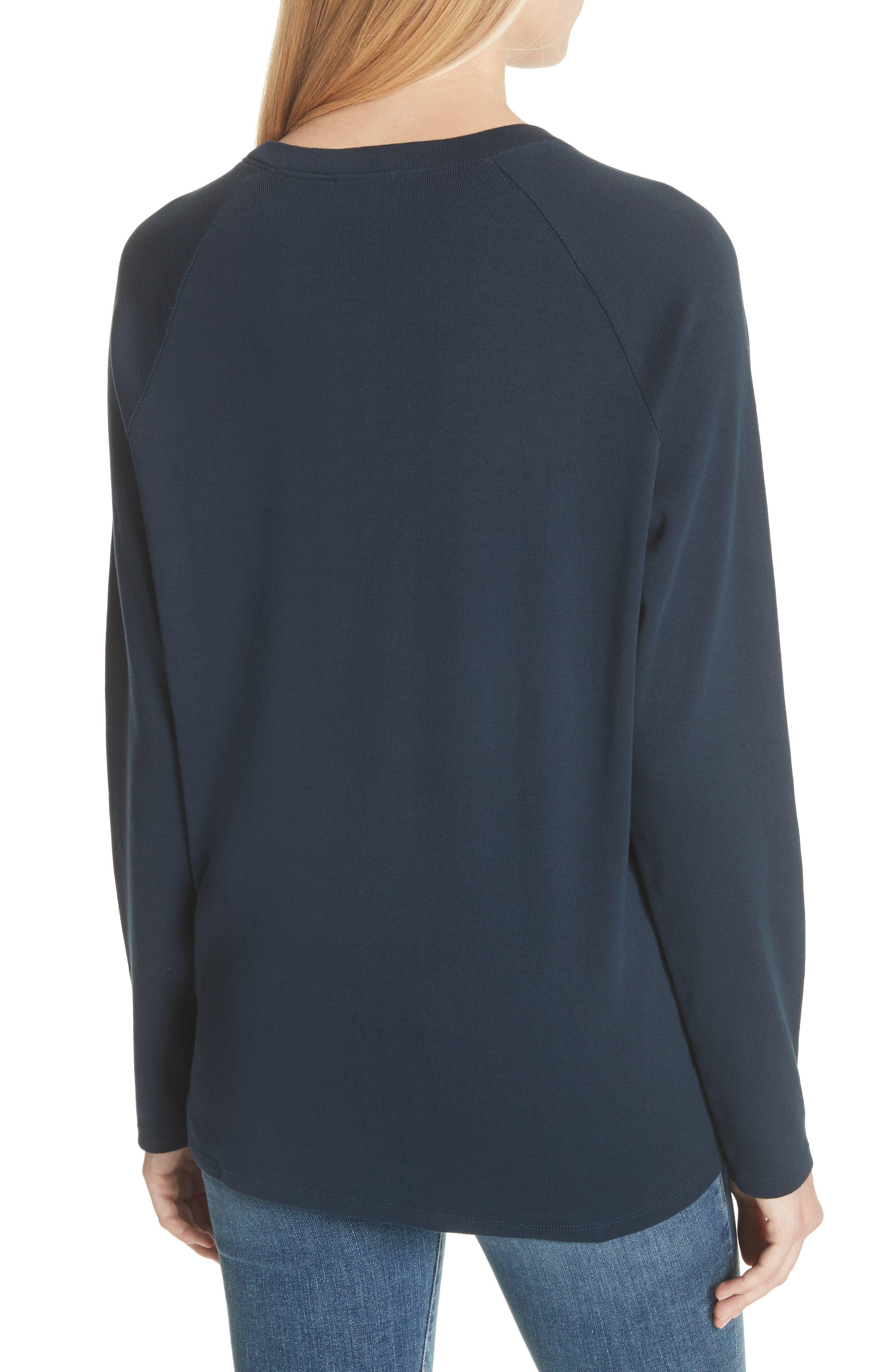 Collegiate Raglan Sweatshirt,                             Alternate thumbnail 2, color,                             Navy
