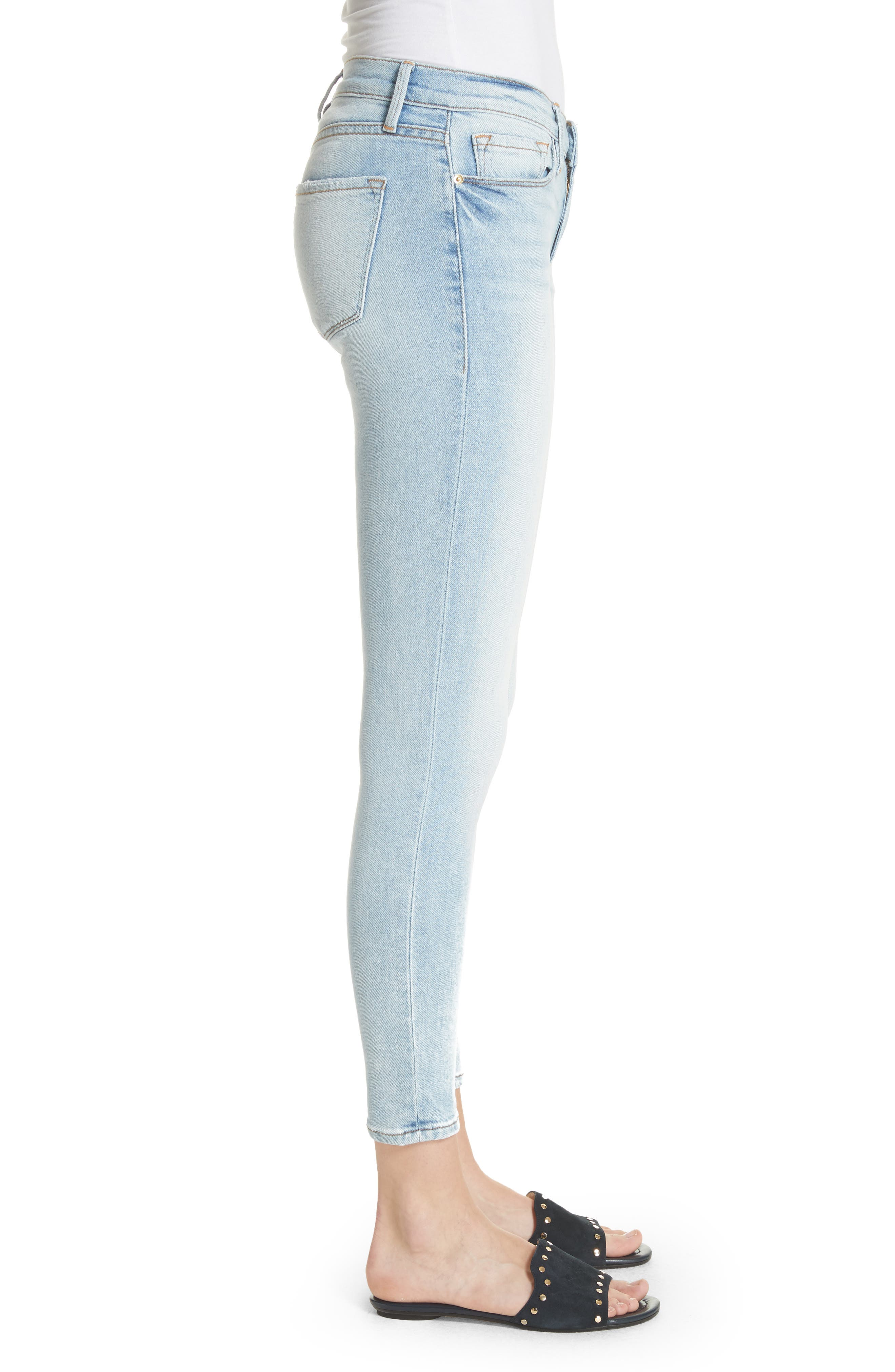 Le Skinny de Jeanne Ankle Jeans,                             Alternate thumbnail 3, color,                             Adeline