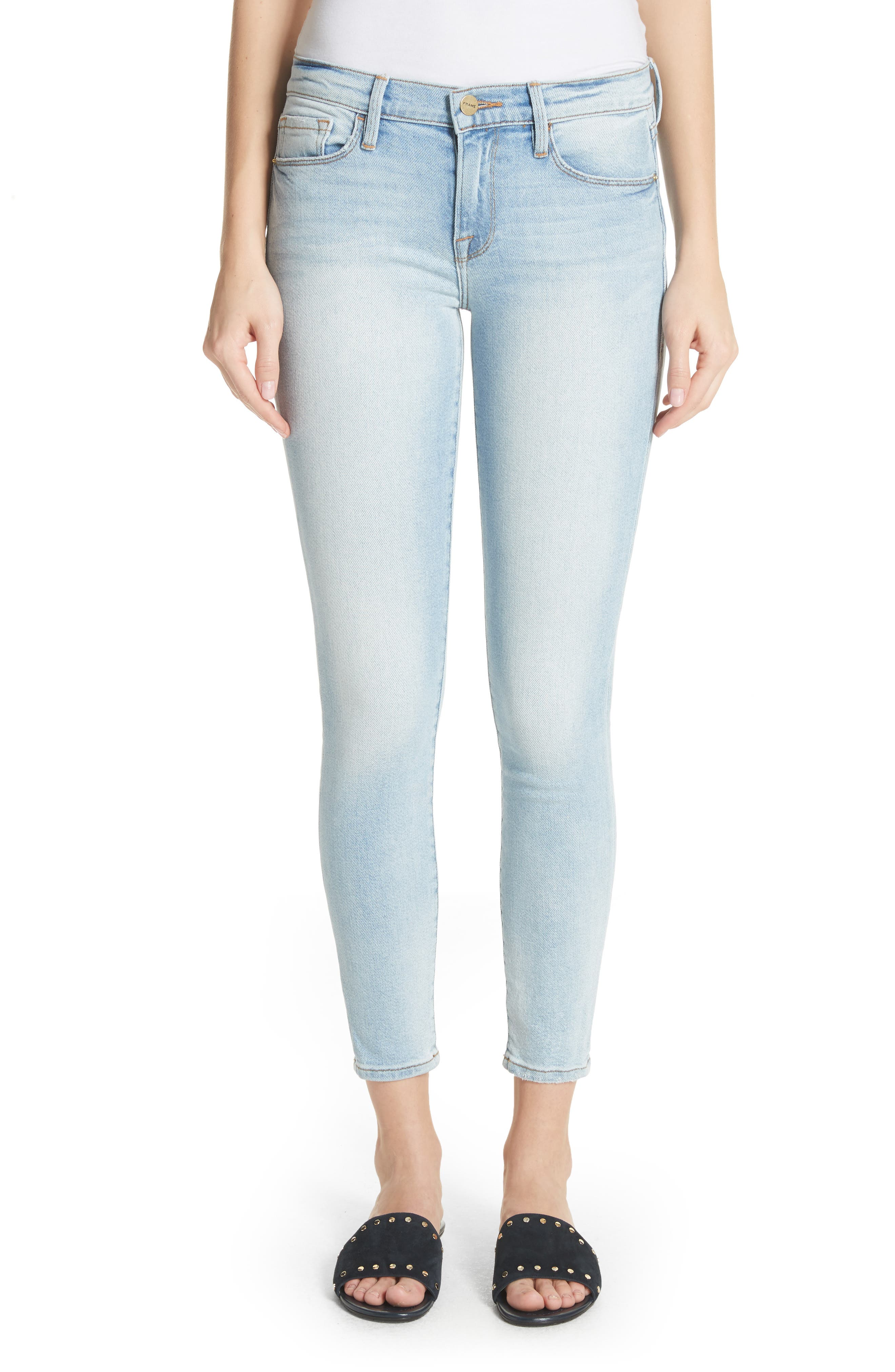 Le Skinny de Jeanne Ankle Jeans,                             Main thumbnail 1, color,                             Adeline