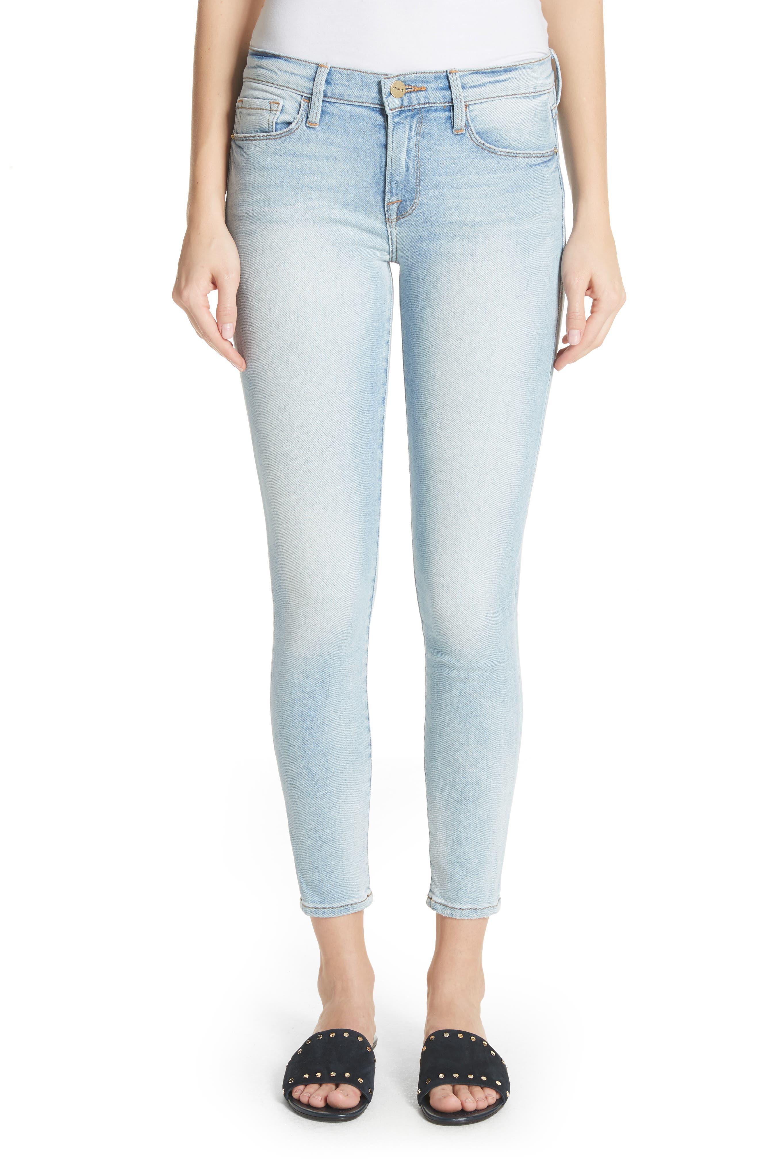 Le Skinny de Jeanne Ankle Jeans,                         Main,                         color, Adeline