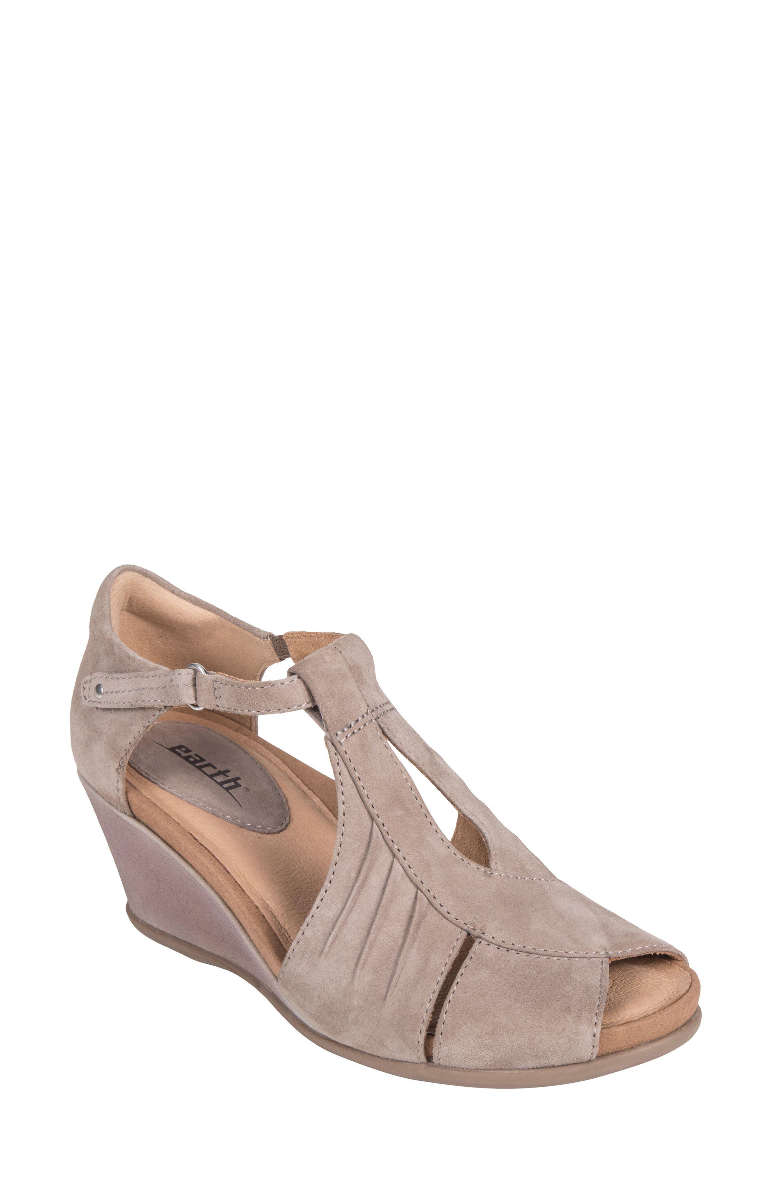 Primrose Wedge Sandal,                         Main,                         color, Ginger Suede