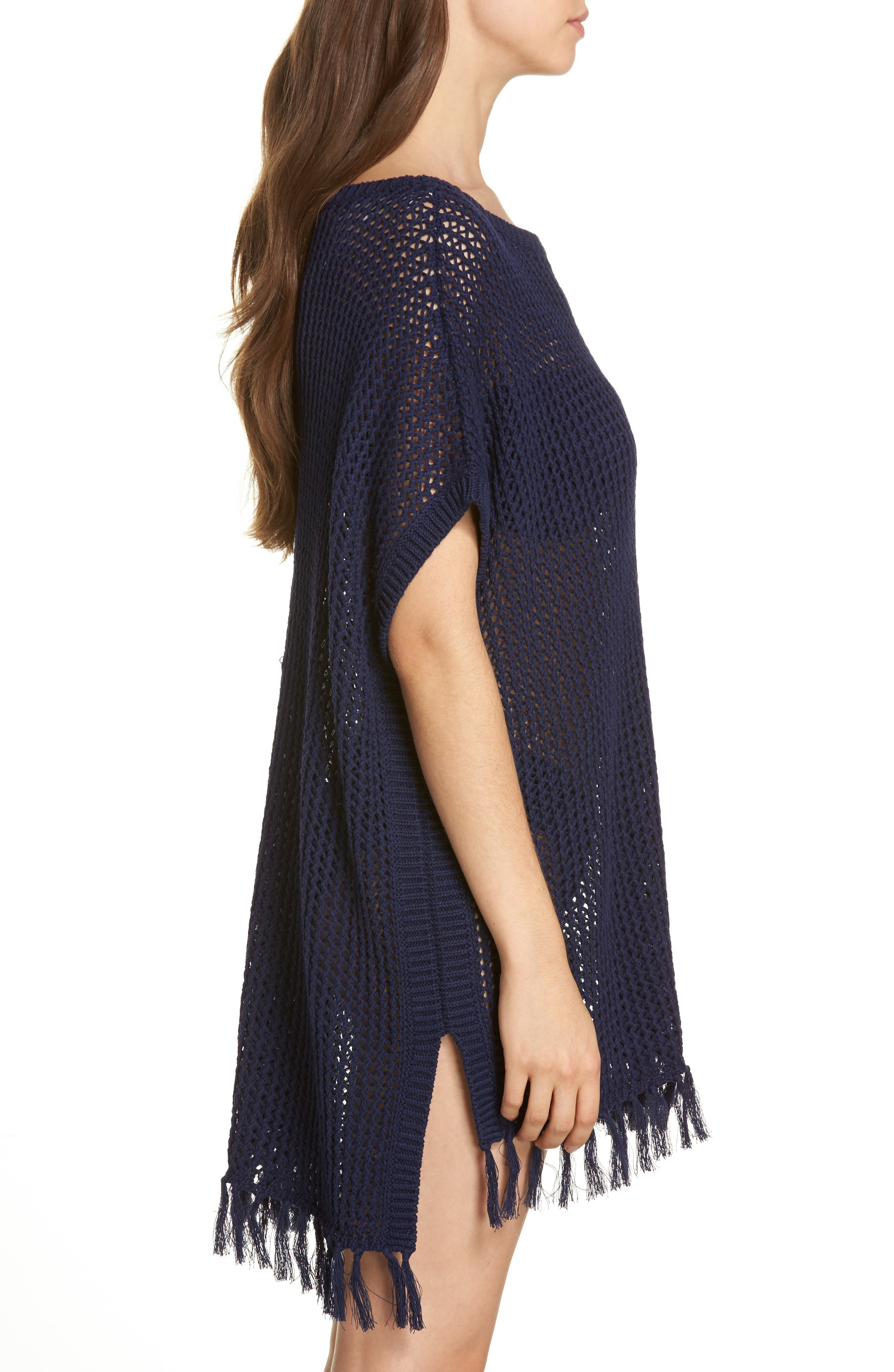 Slouchy Beach Sweater Cover-Up,                             Alternate thumbnail 3, color,                             Mare
