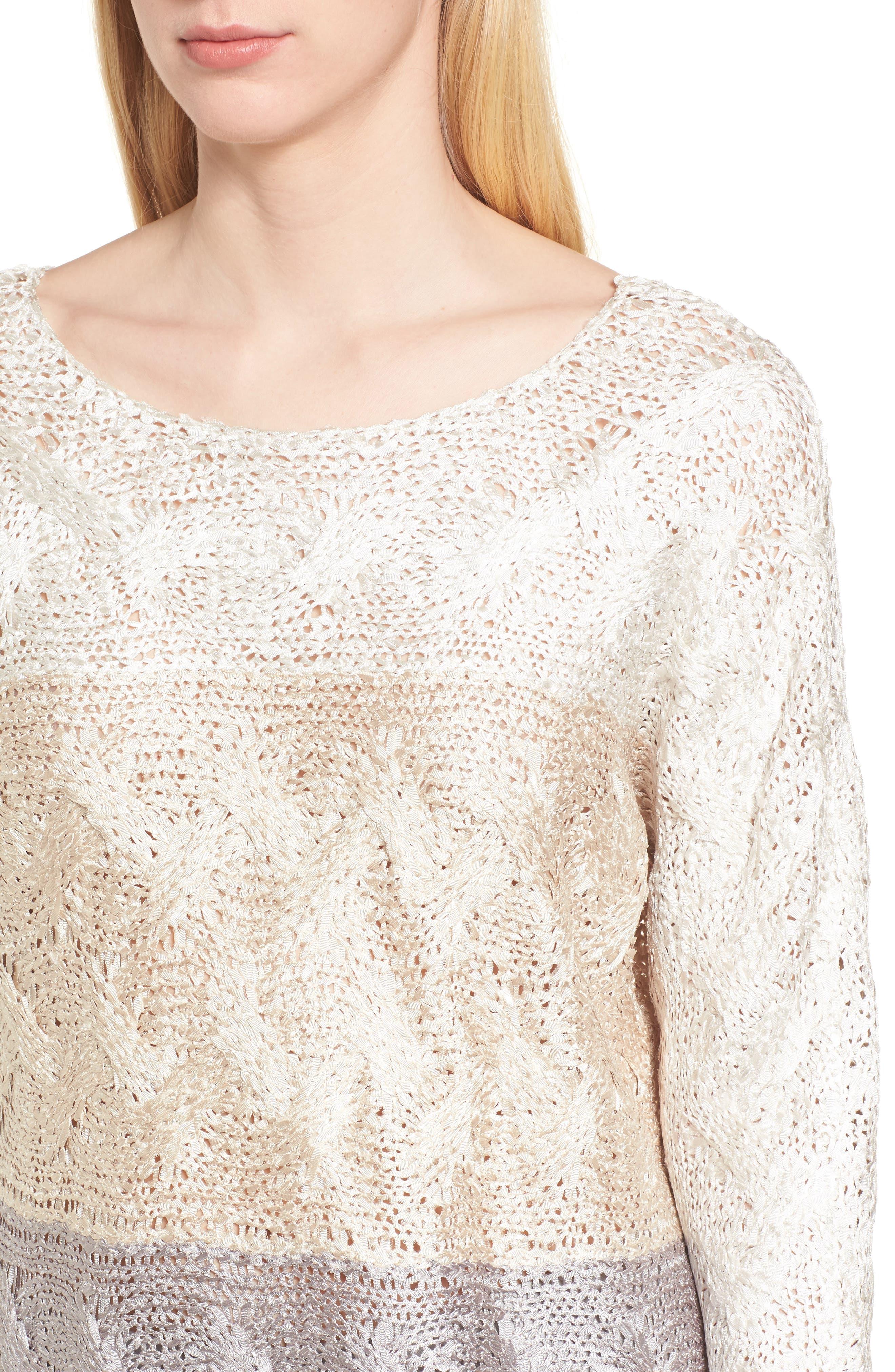 Alternate Image 4  - NIC+ZOE Daydreamer Ombré Sweater