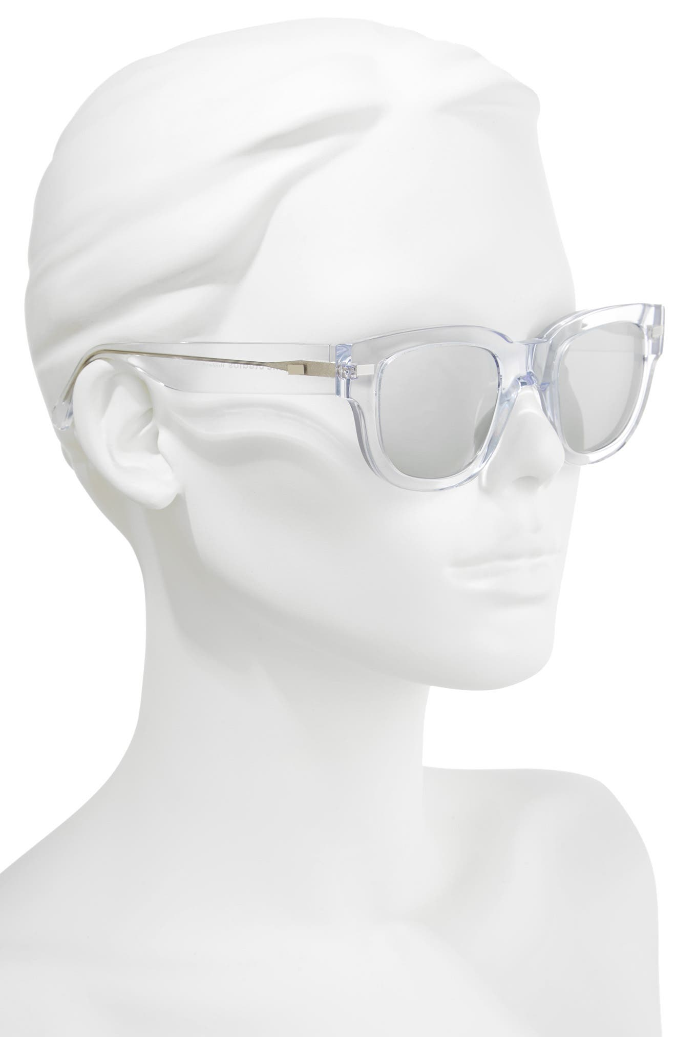 47mm Sunglasses,                             Alternate thumbnail 2, color,                             Clear/ Silver Mirror