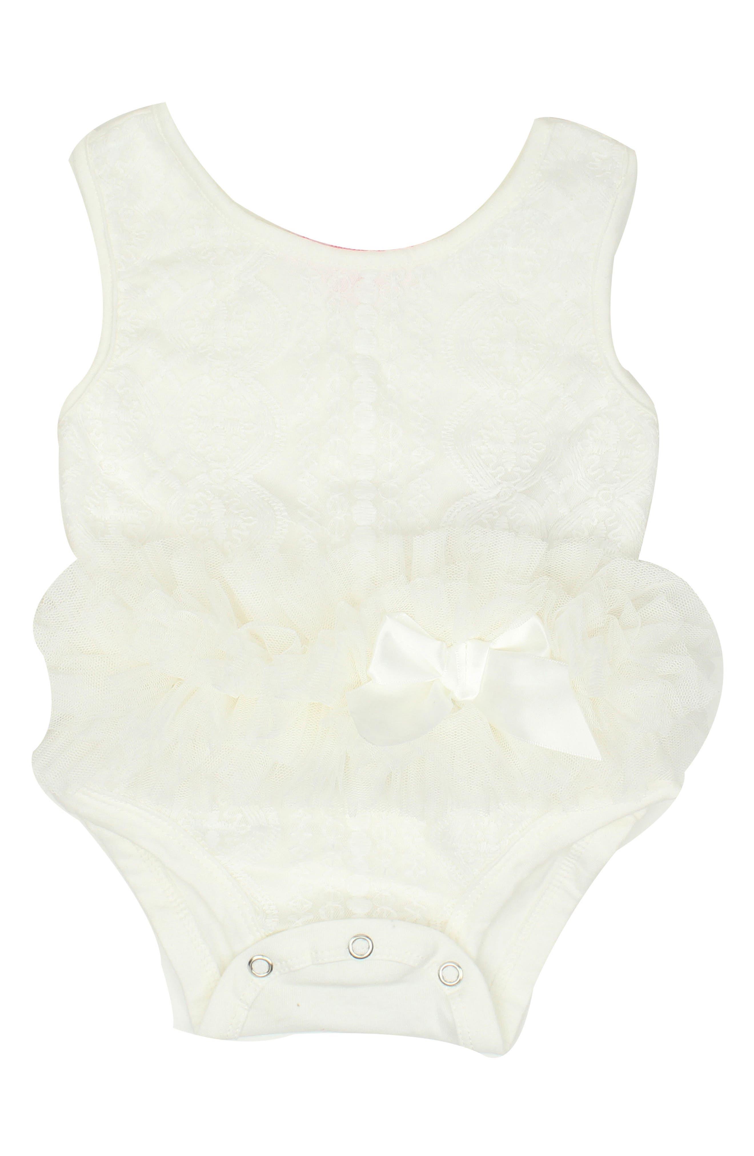 Tutu Bodysuit,                             Main thumbnail 1, color,                             White
