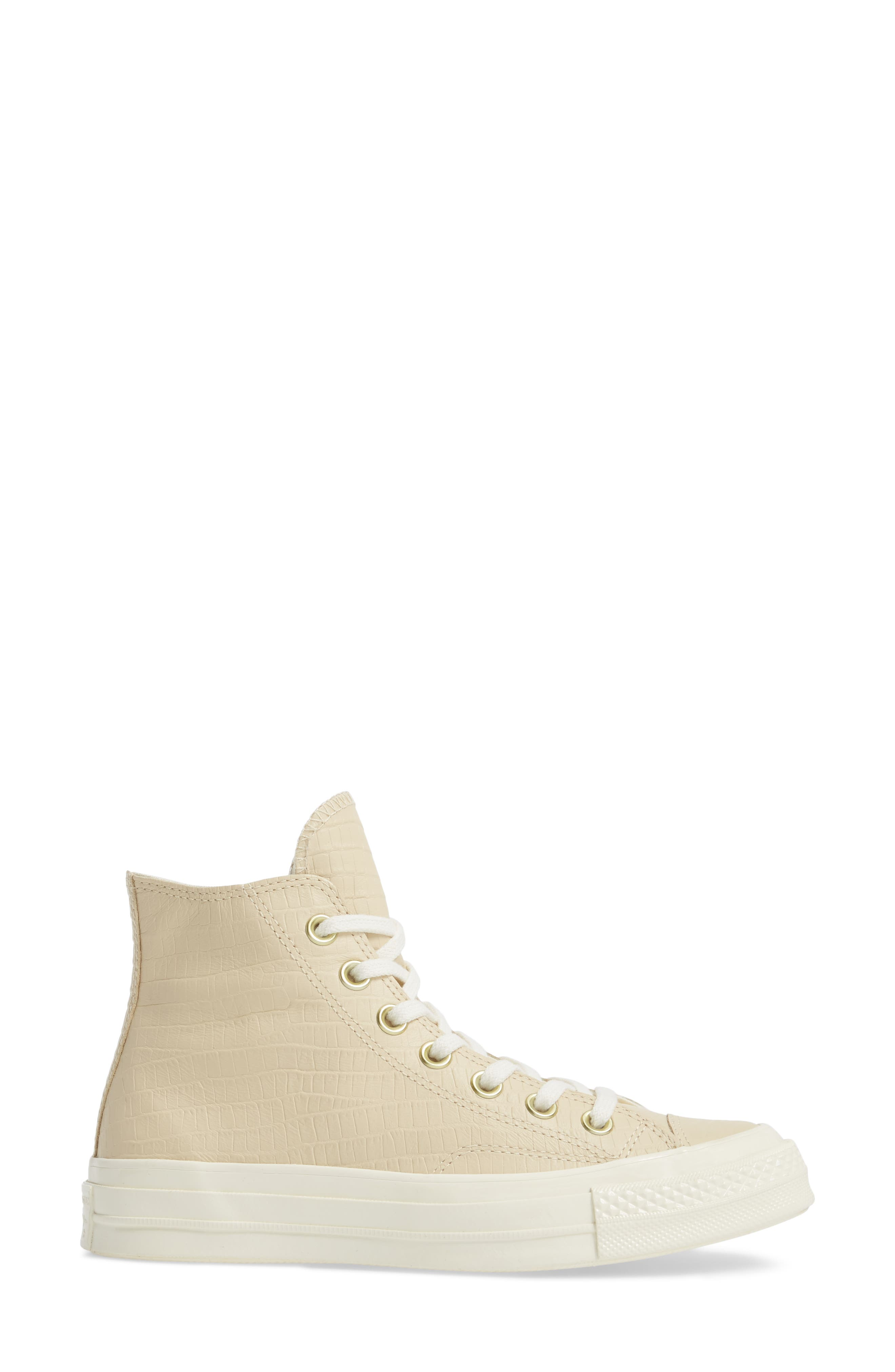 Chuck Taylor<sup>®</sup> All Star<sup>®</sup> CT 70 Reptile High Top Sneaker,                             Alternate thumbnail 3, color,                             Light Twine