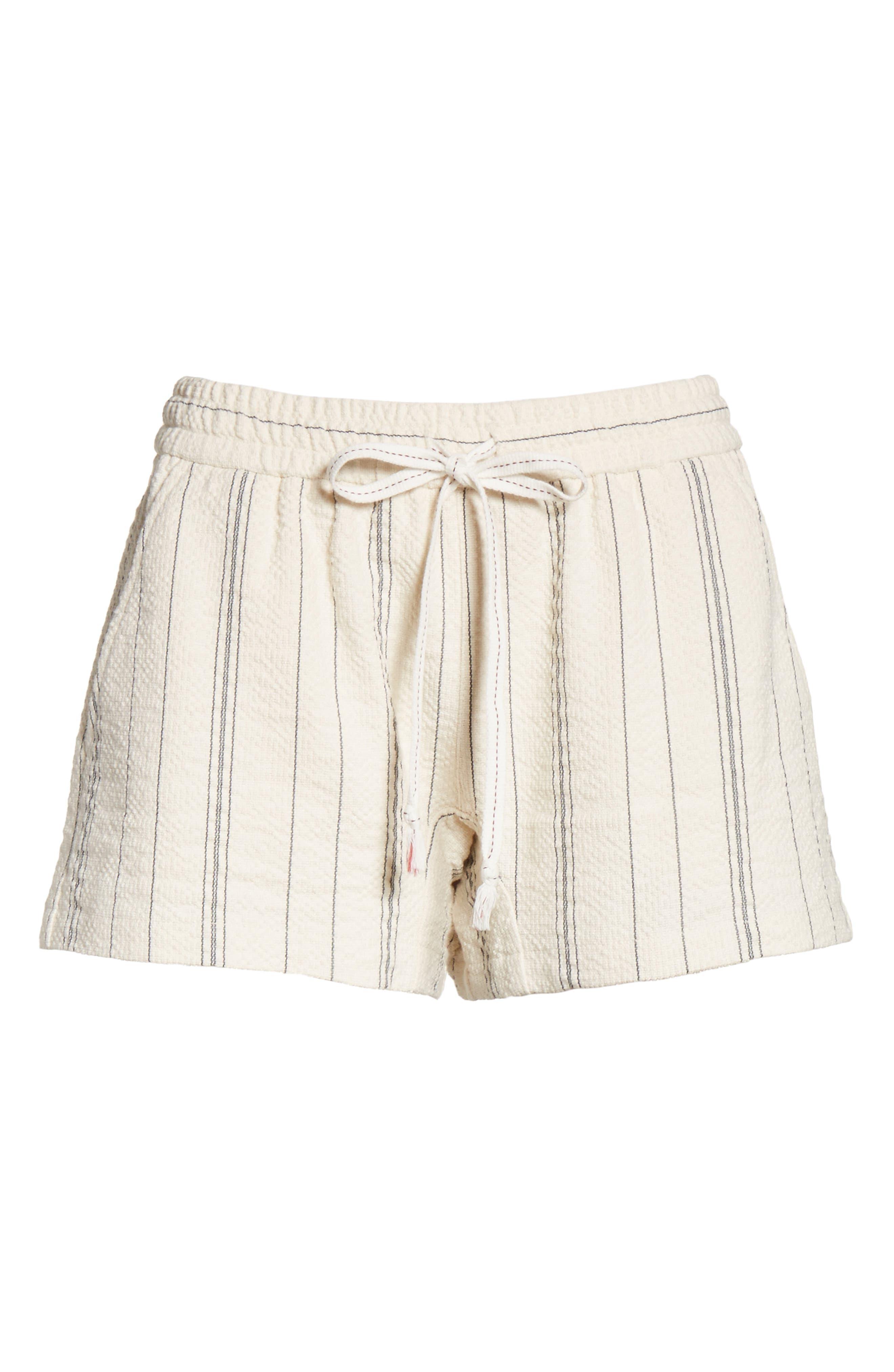 Stripe Shorts,                             Alternate thumbnail 7, color,                             White/ Black