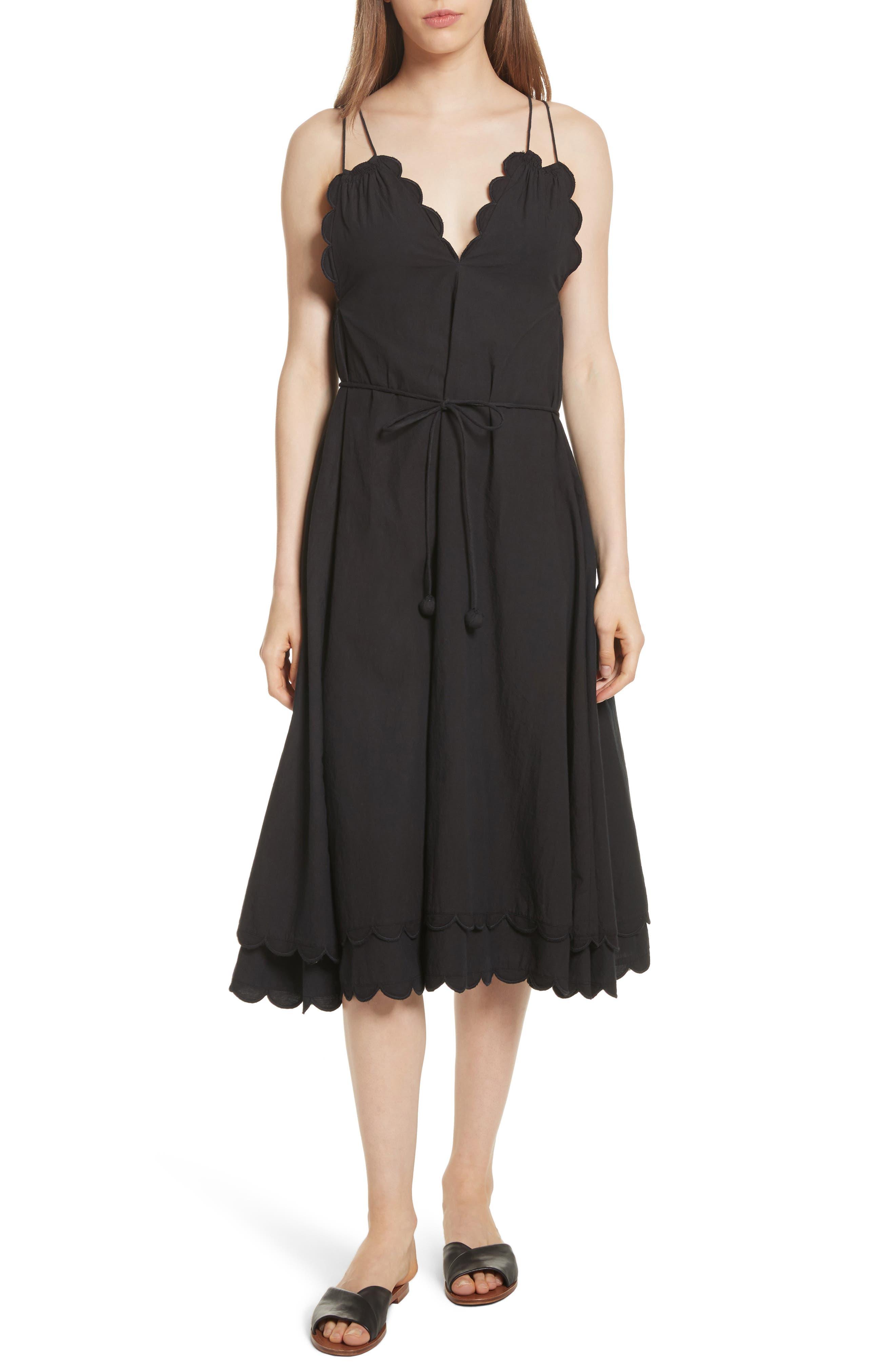 Apiece Apart Mirage Scallop Edge Dress