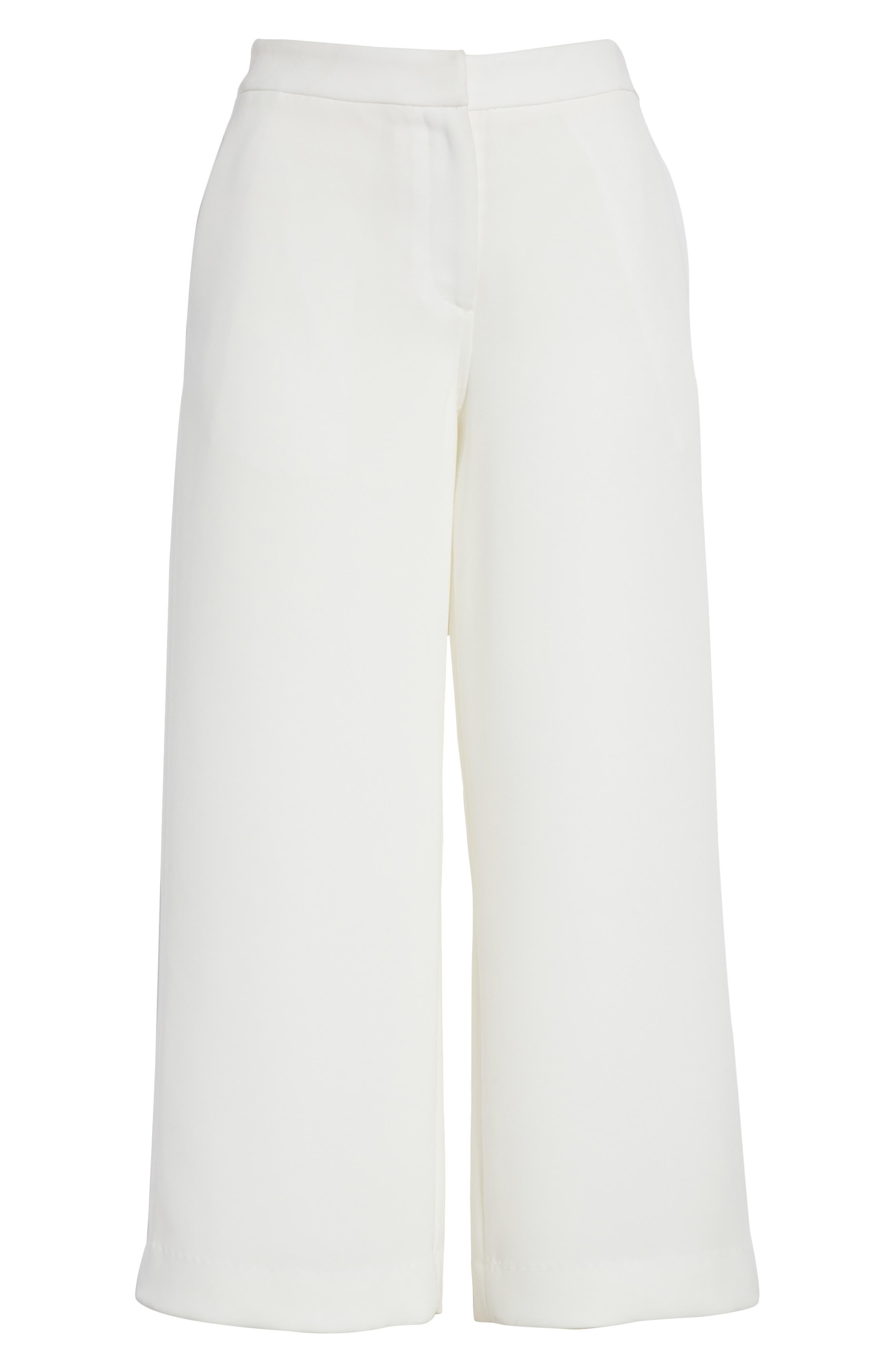 Marci Crop Wide Leg Pants,                             Alternate thumbnail 6, color,                             Chalk