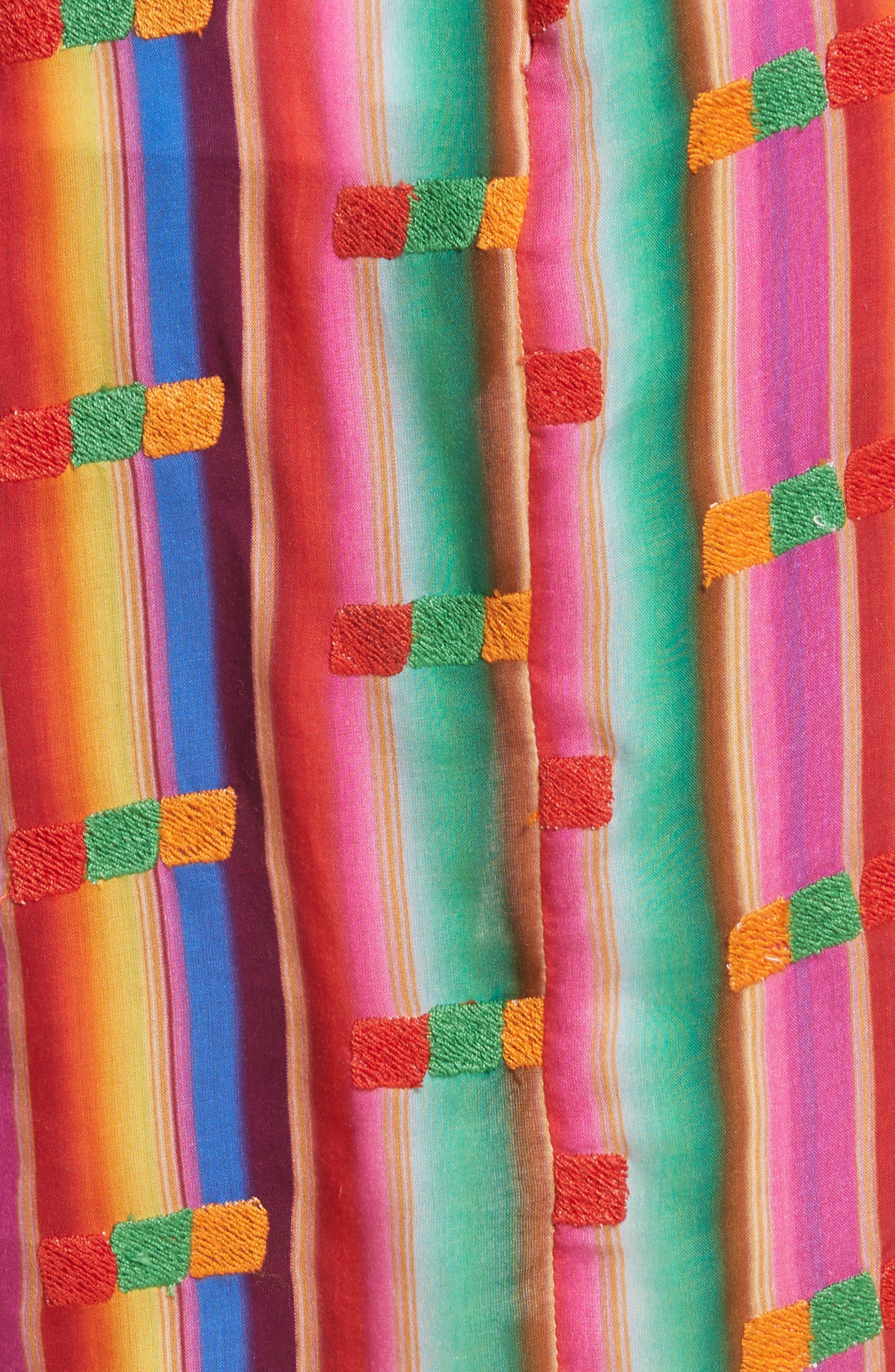 Roselie Wrap Style Skirt,                             Alternate thumbnail 5, color,                             Rainbow
