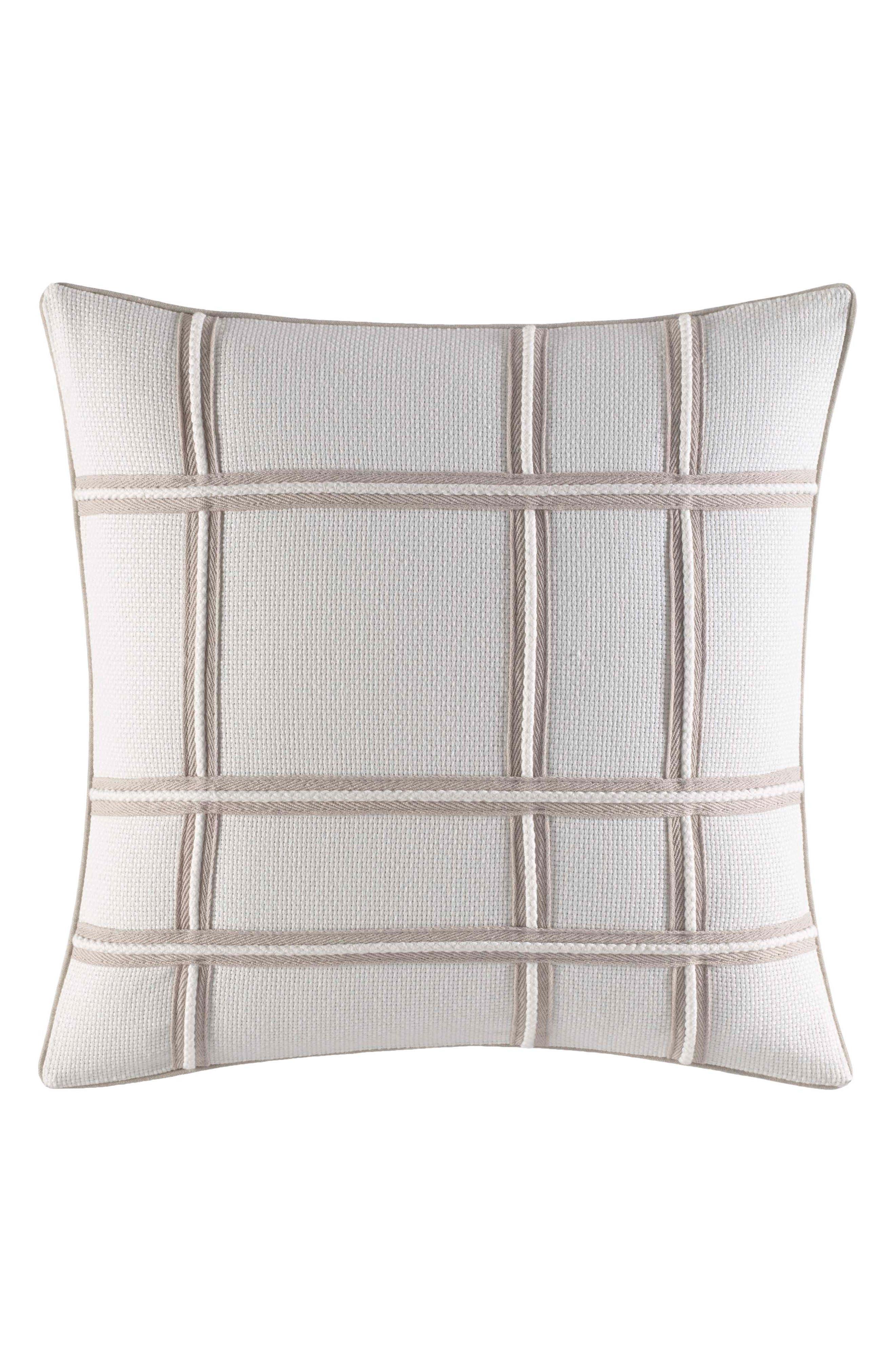 Abbot Rope Appliqué Accent Pillow,                             Main thumbnail 1, color,                             White