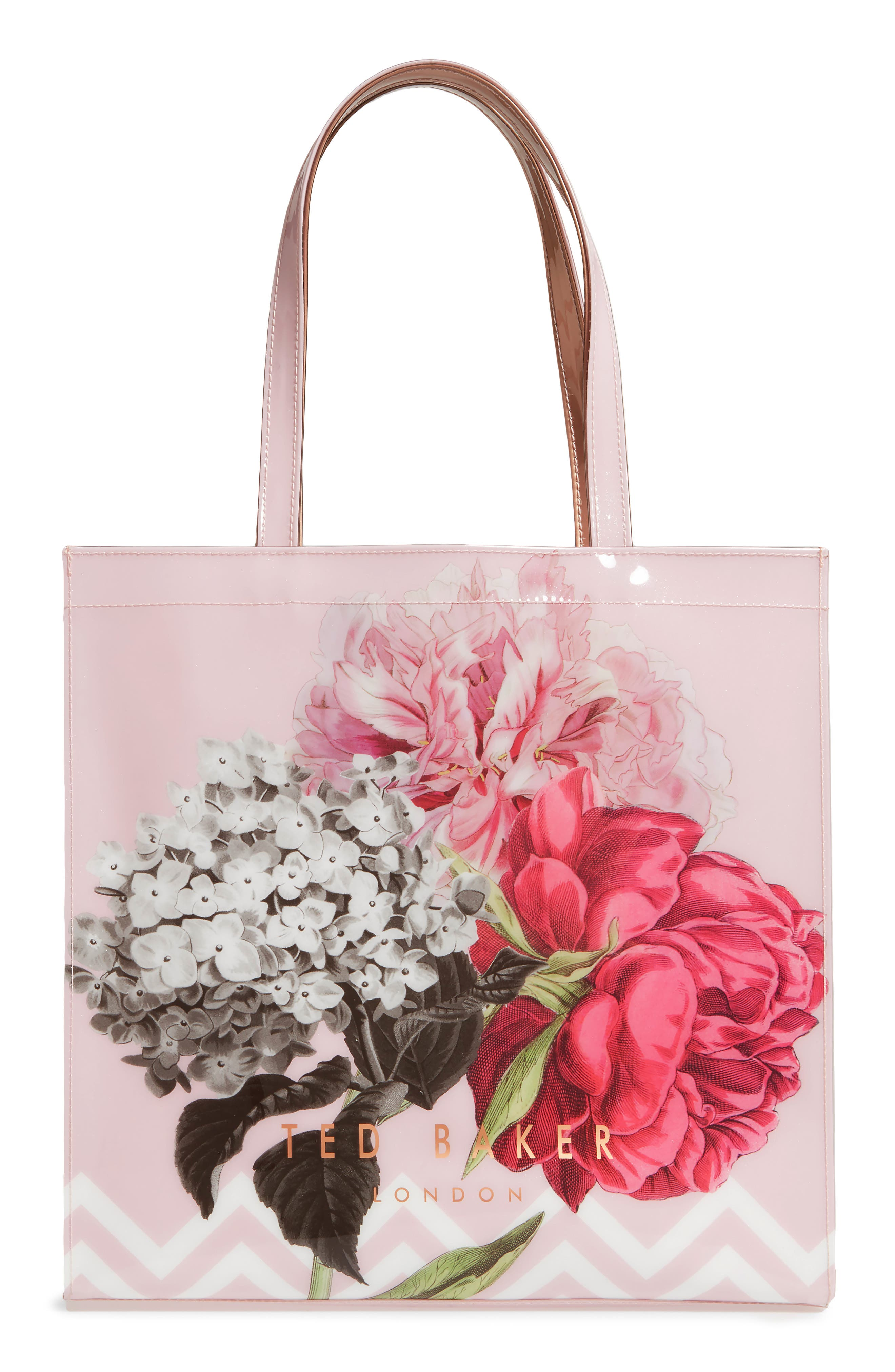 Palace Gardens Large Icon Tote,                             Alternate thumbnail 3, color,                             Dusky Pink