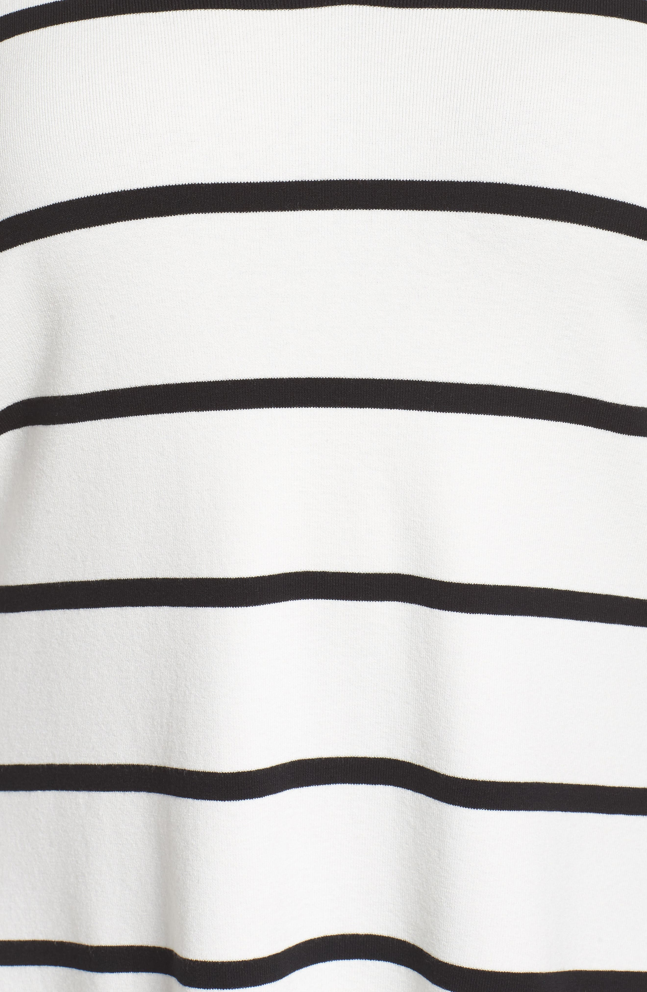 Stripe Sweater,                             Alternate thumbnail 5, color,                             Cloud/ Black