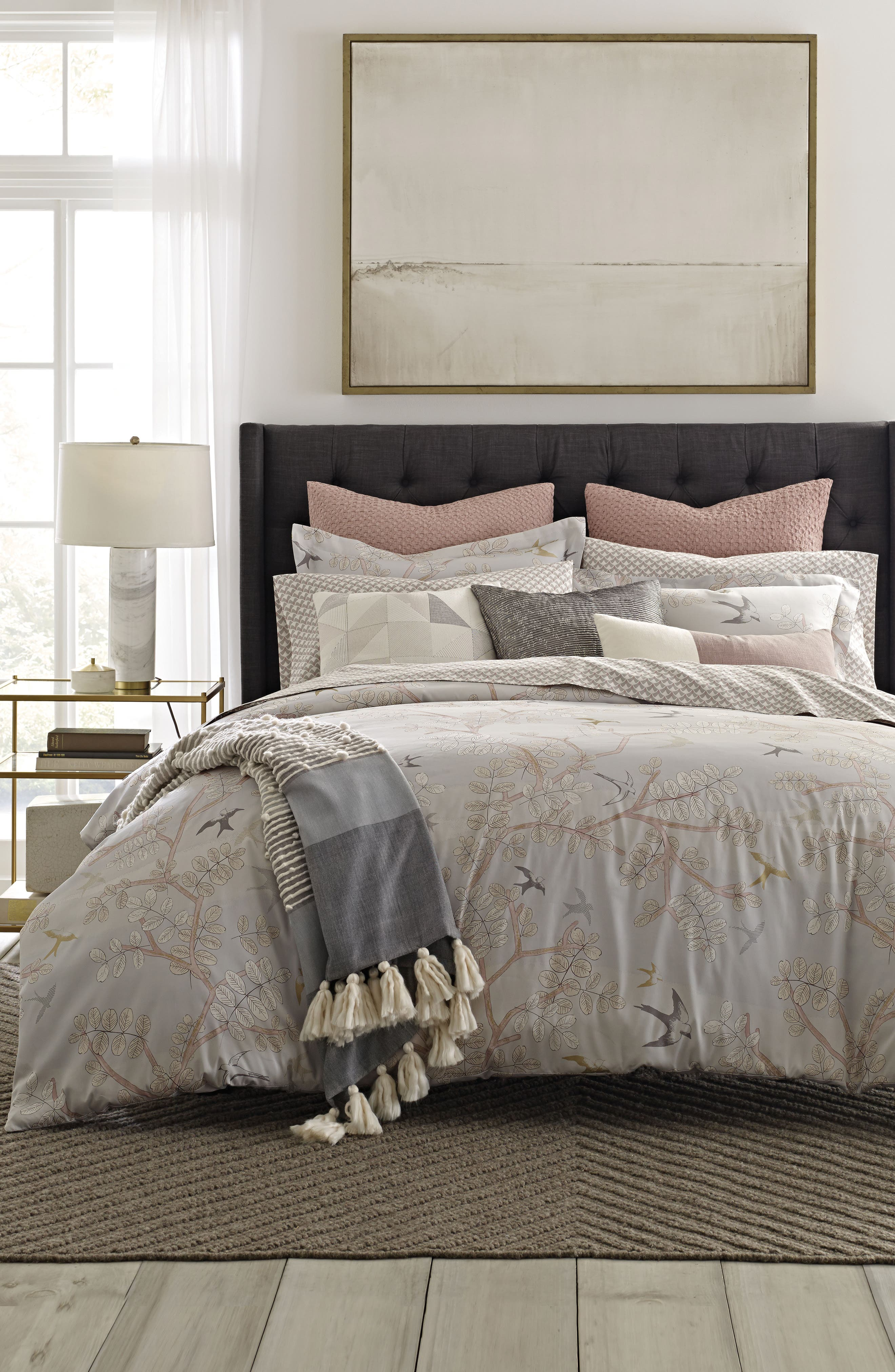 Margot 300 Thread Count Comforter,                             Alternate thumbnail 2, color,                             Light/ Pastel Grey