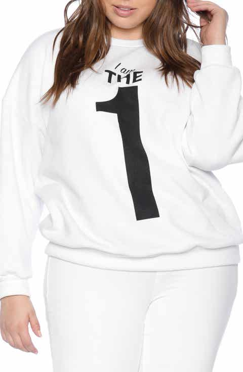 SLINK Jeans I Am the One Oversize Sweatshirt (Plus Size)
