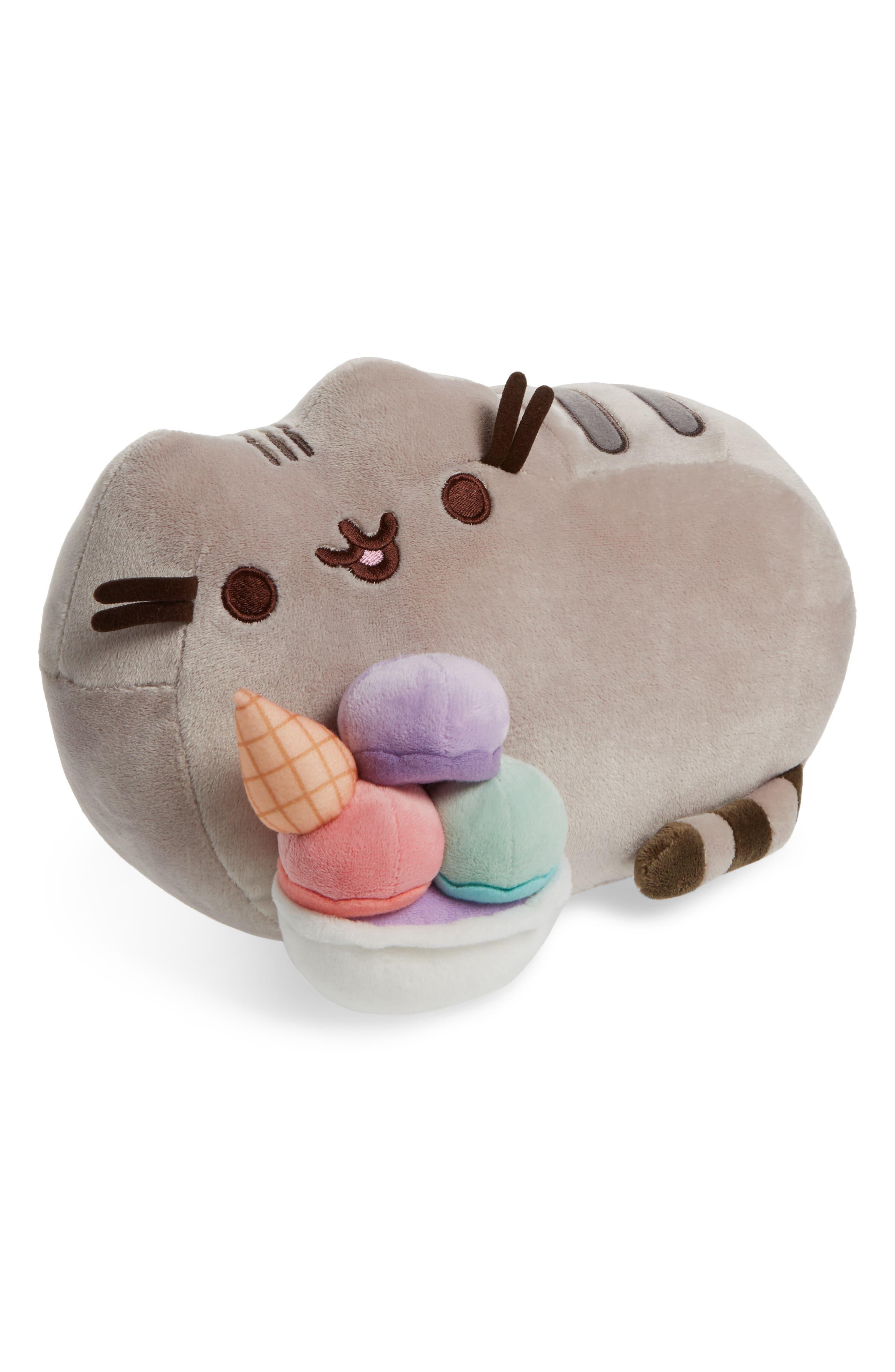 Pusheen Sundae Stuffed Animal,                             Main thumbnail 1, color,                             Gray