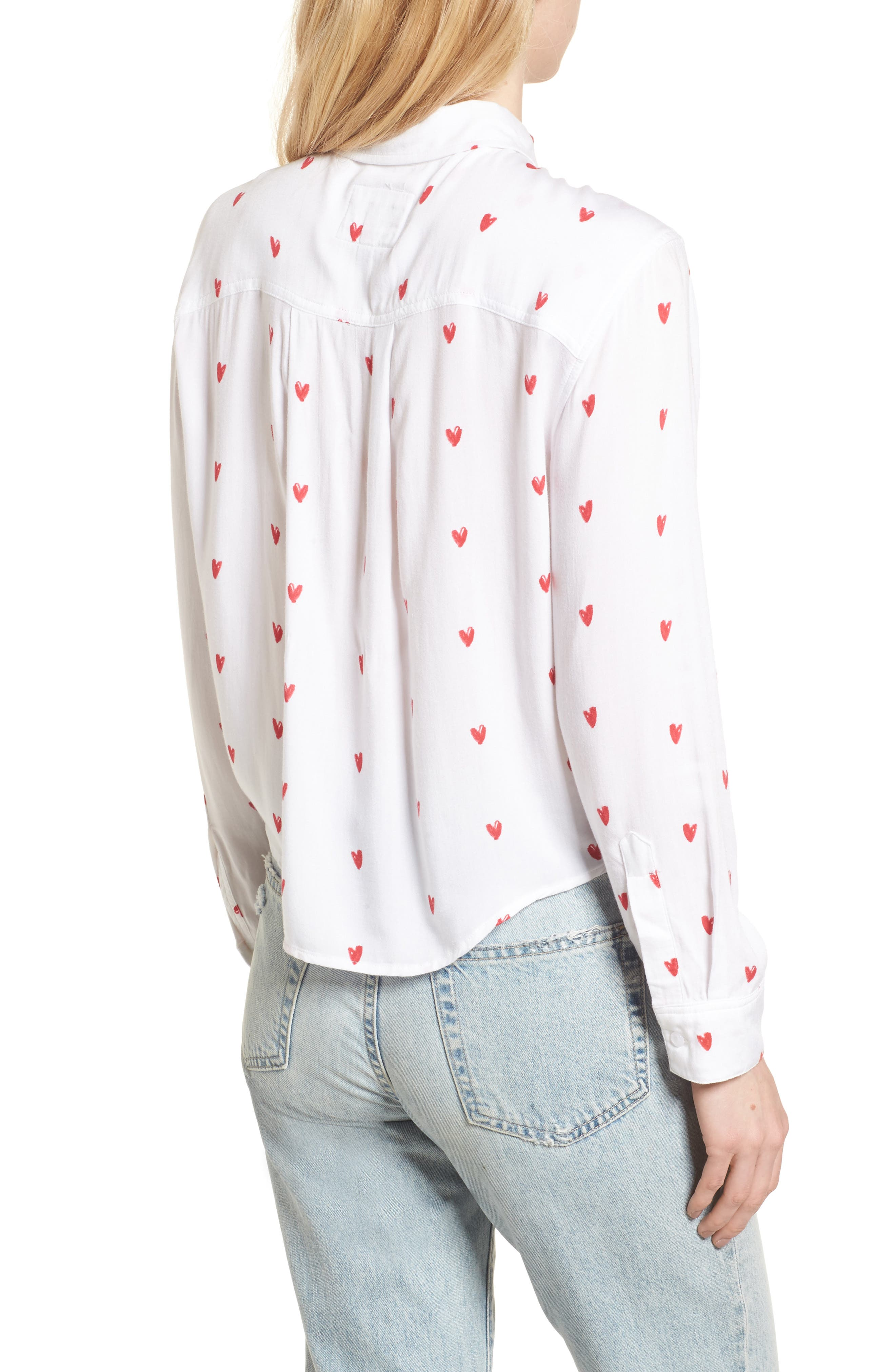 Val Tie Front Shirt,                             Alternate thumbnail 2, color,                             Lipstick Hearts
