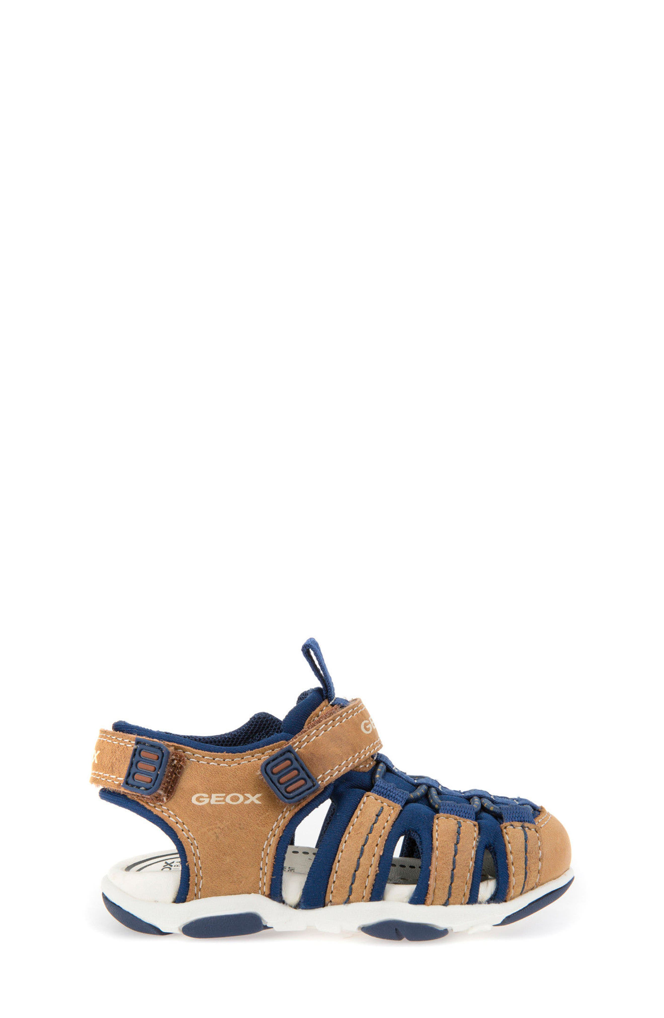Agasim Fisherman Sandal,                             Alternate thumbnail 3, color,                             Caramel/ Navy