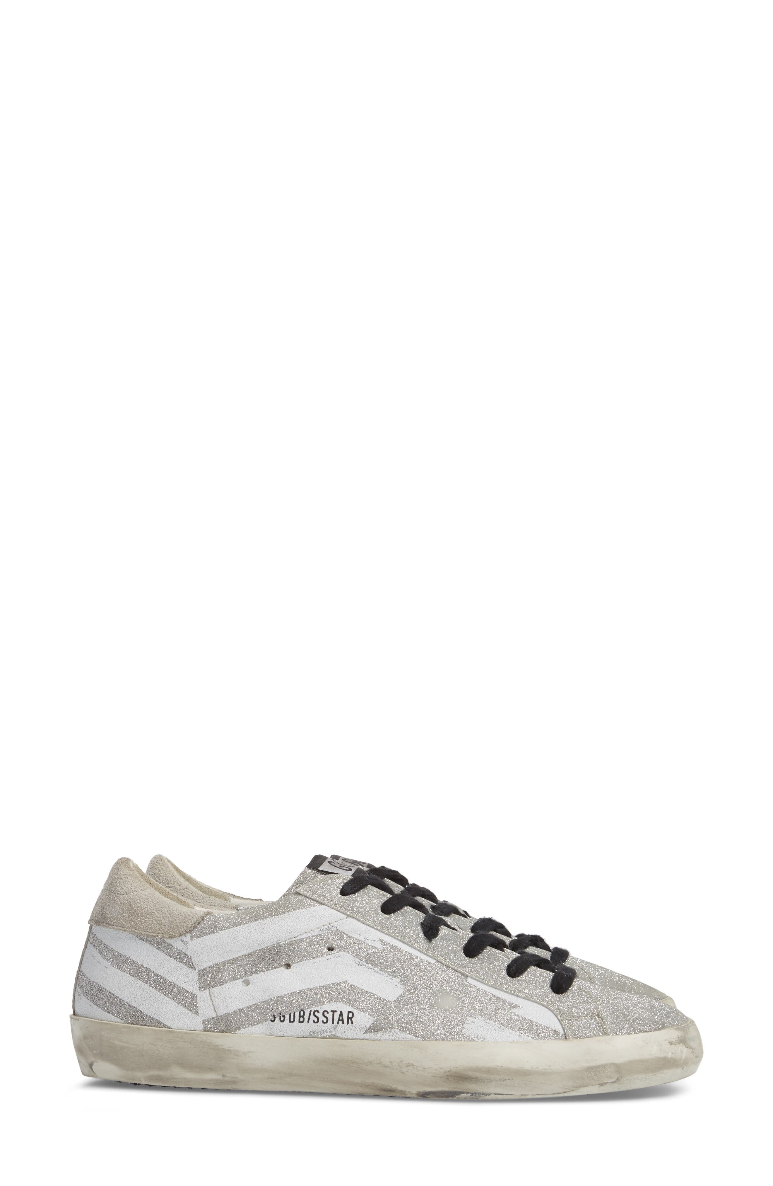 Superstar Low Top Sneaker,                             Alternate thumbnail 3, color,                             Grey/ White