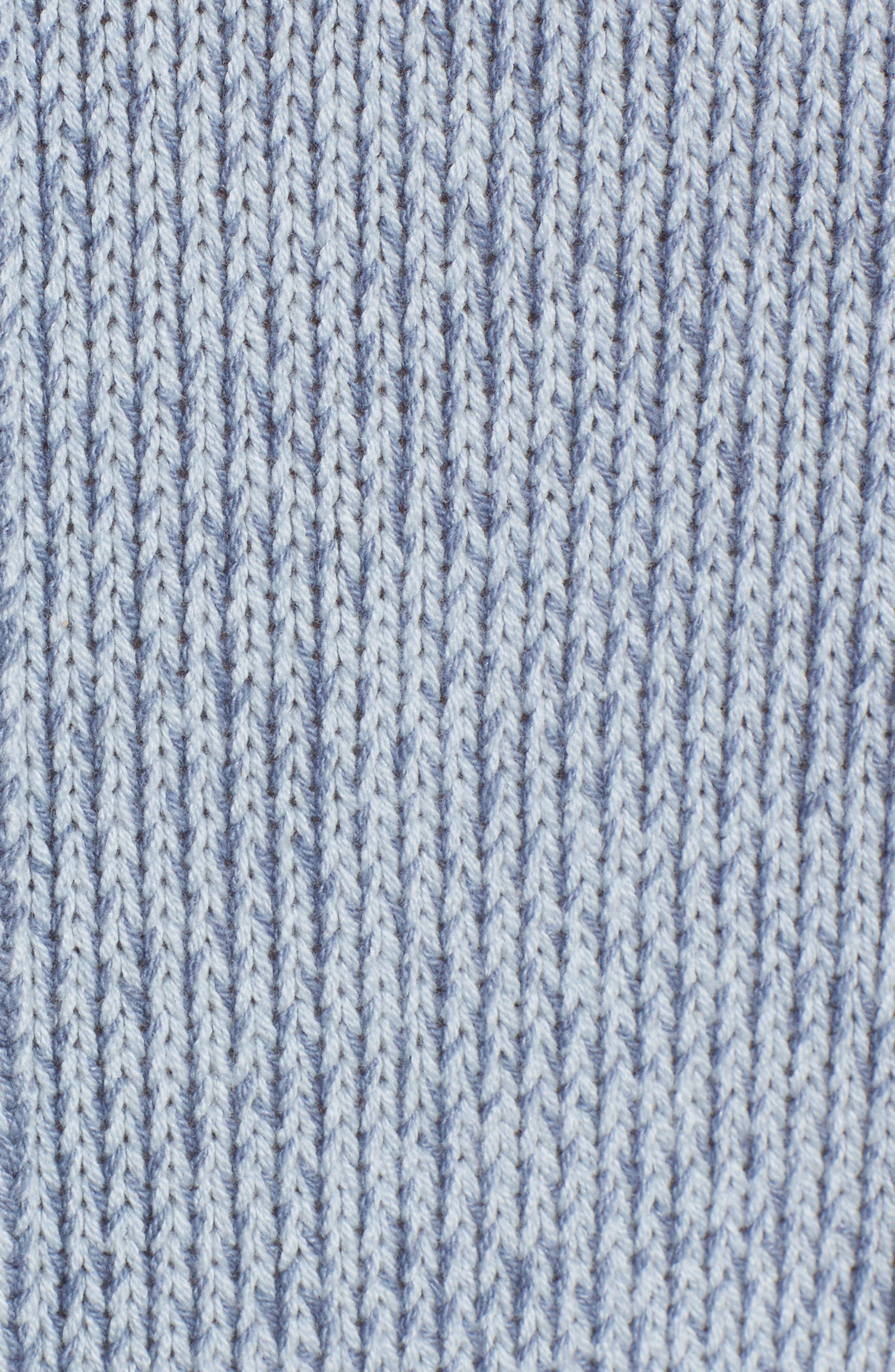 Lola Reversible Twist Sweater,                             Alternate thumbnail 5, color,                             Light Blue
