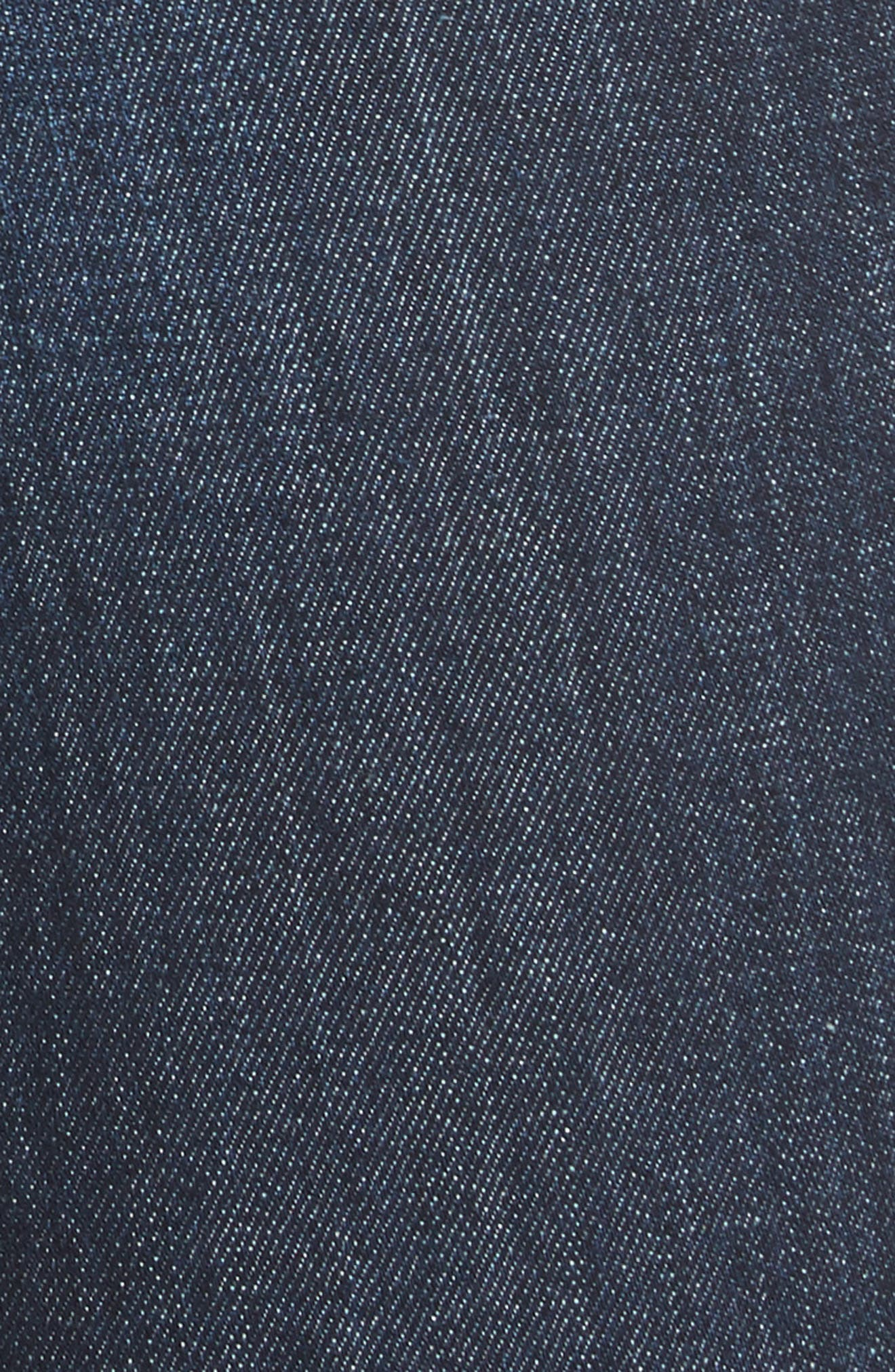 AO.LA Good High Waist Pintuck Skinny Jeans,                             Alternate thumbnail 5, color,                             Dream On
