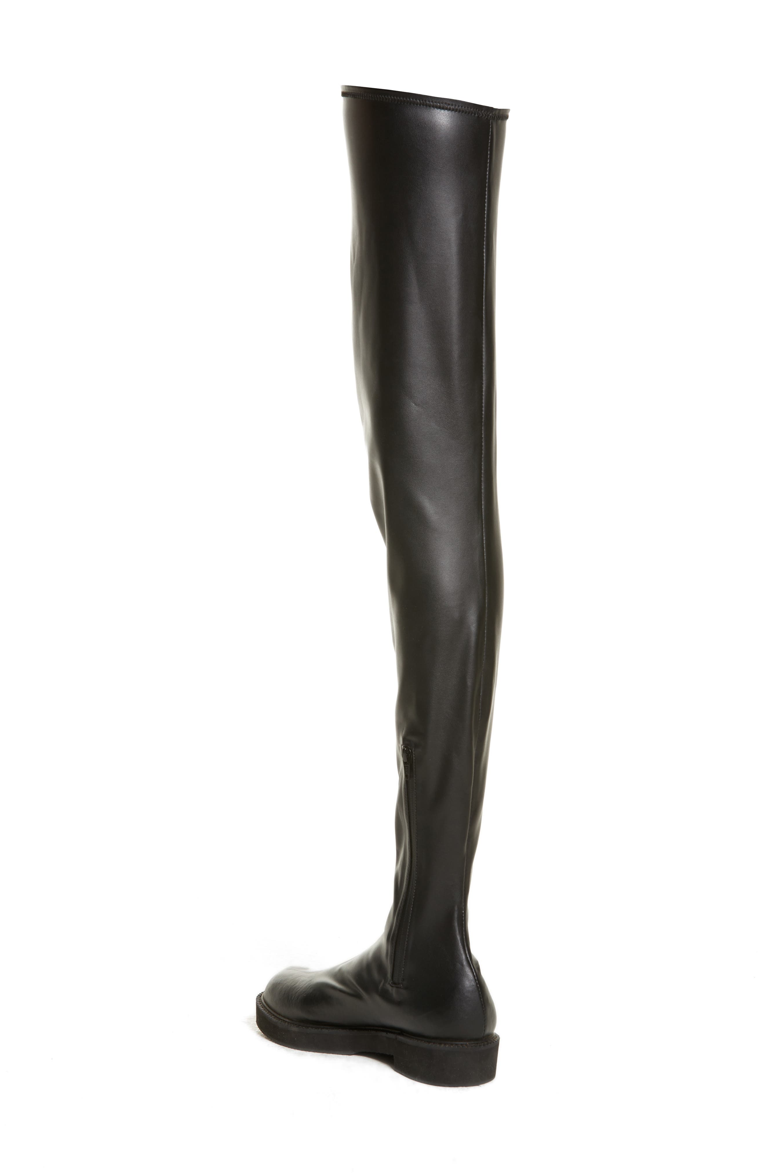 Faux Leather Over the Knee Boot,                             Alternate thumbnail 2, color,                             Black