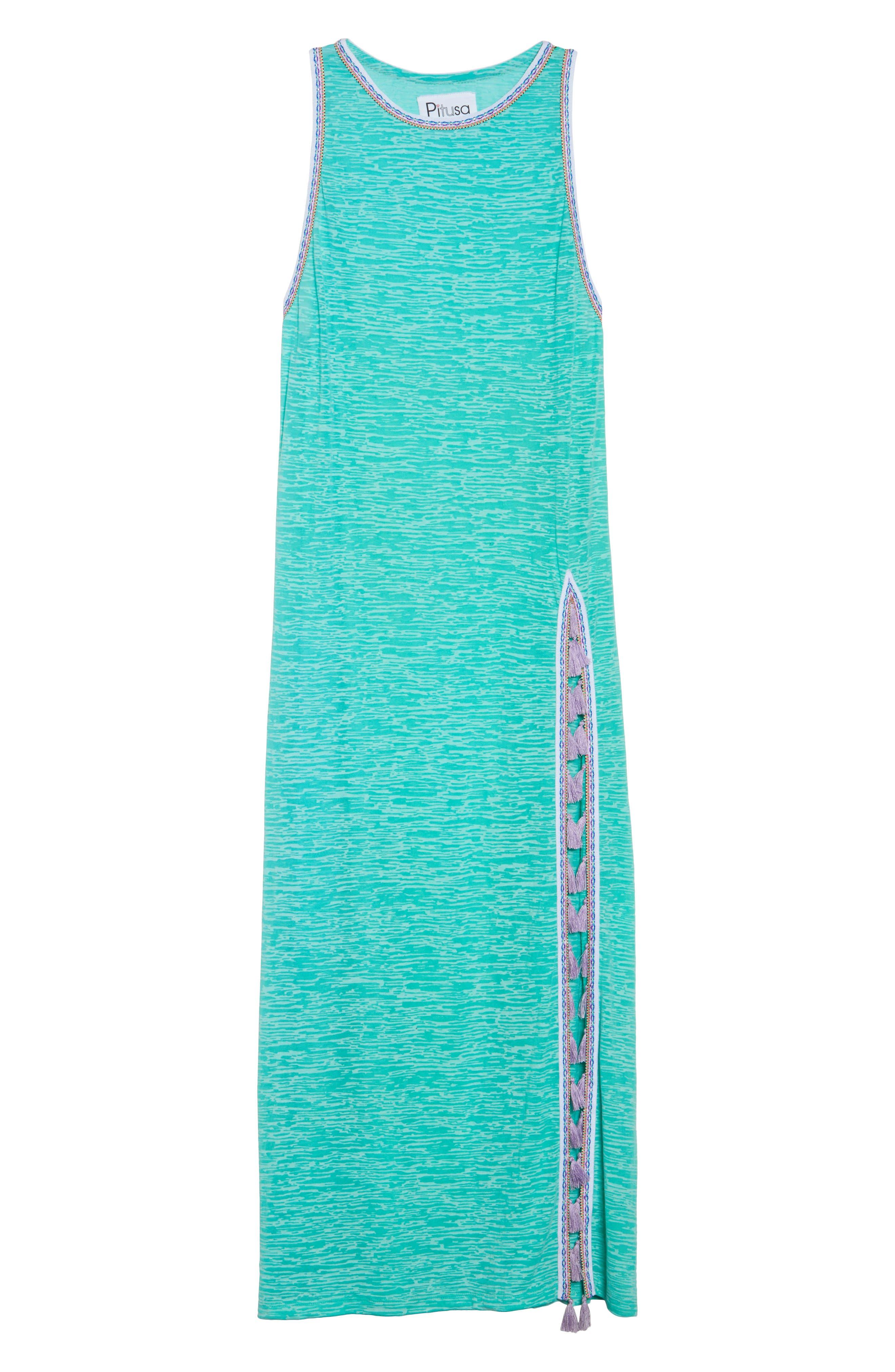 Tassel Slit Cover-Up Maxi Dress,                             Alternate thumbnail 6, color,                             Mint