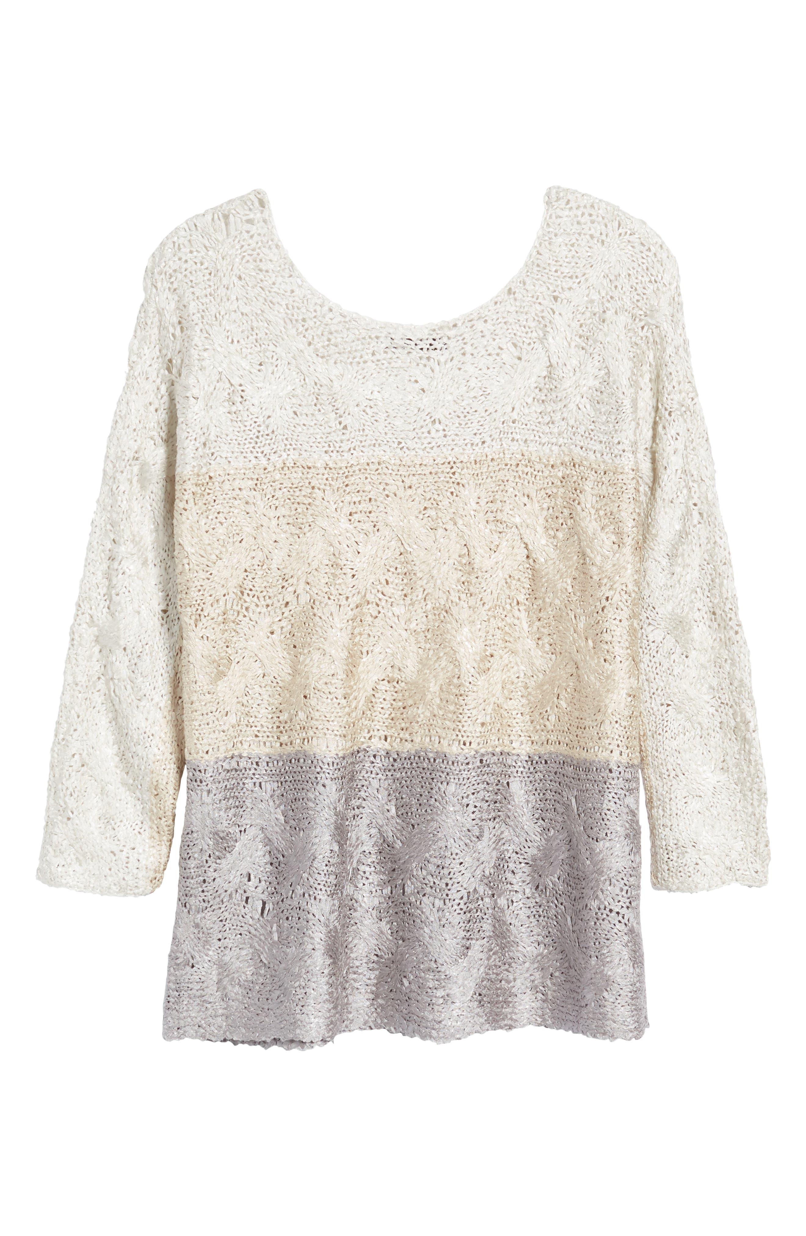 Alternate Image 6  - NIC+ZOE Daydreamer Ombré Sweater