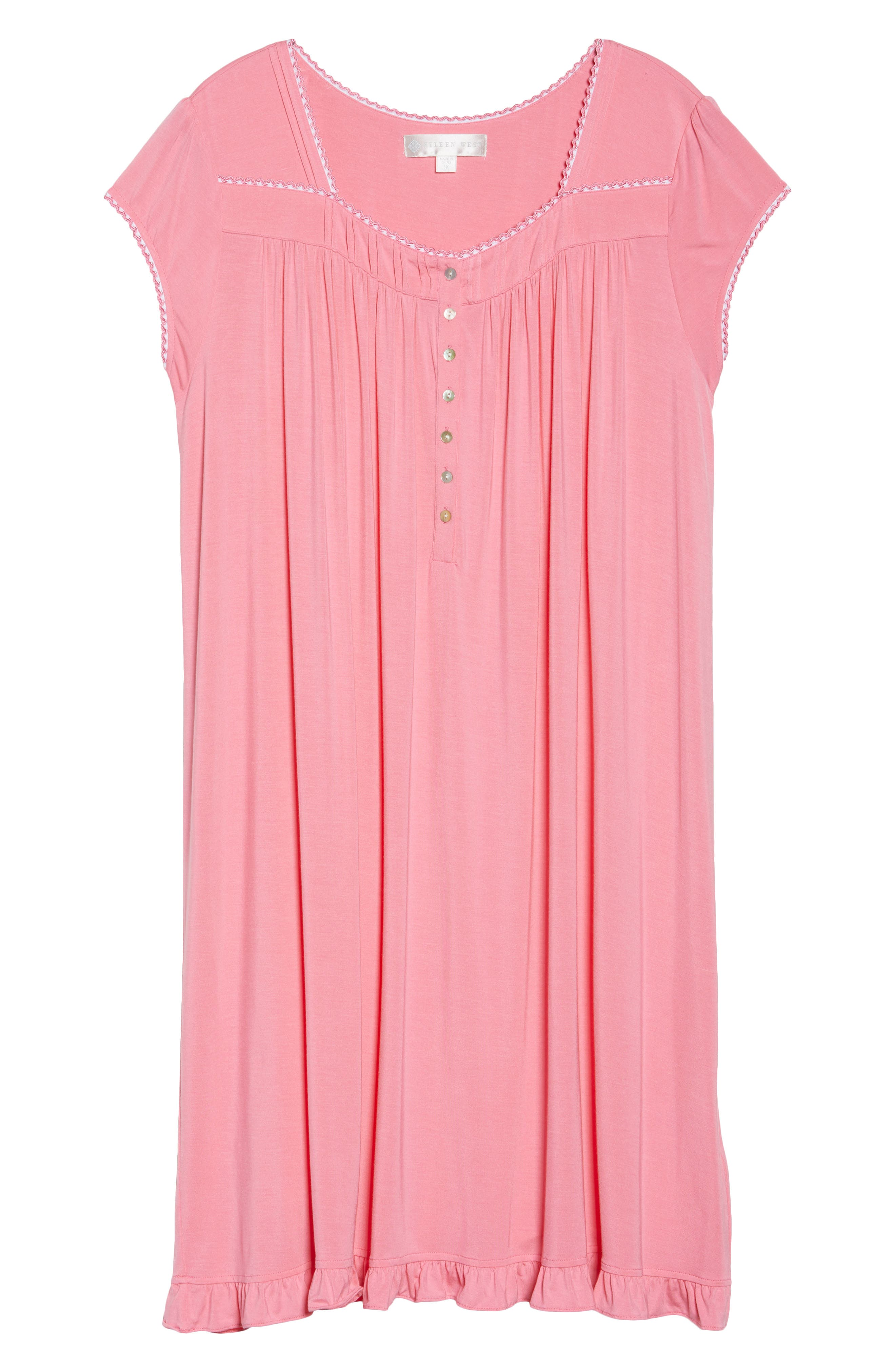 Alternate Image 4  - Eileen West Jersey Waltz Nightgown (Plus Size)