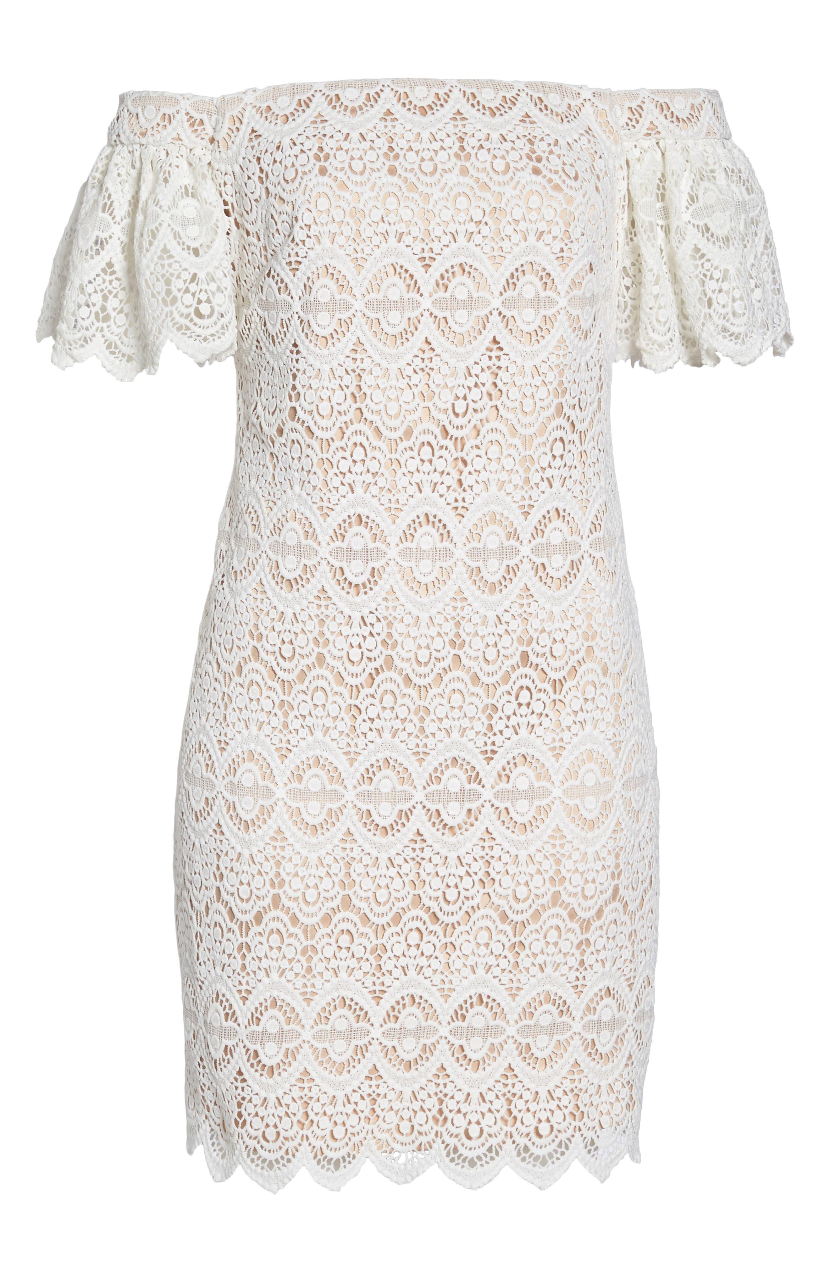 Alternate Image 6  - Eliza J Off the Shoulder Lace Dress
