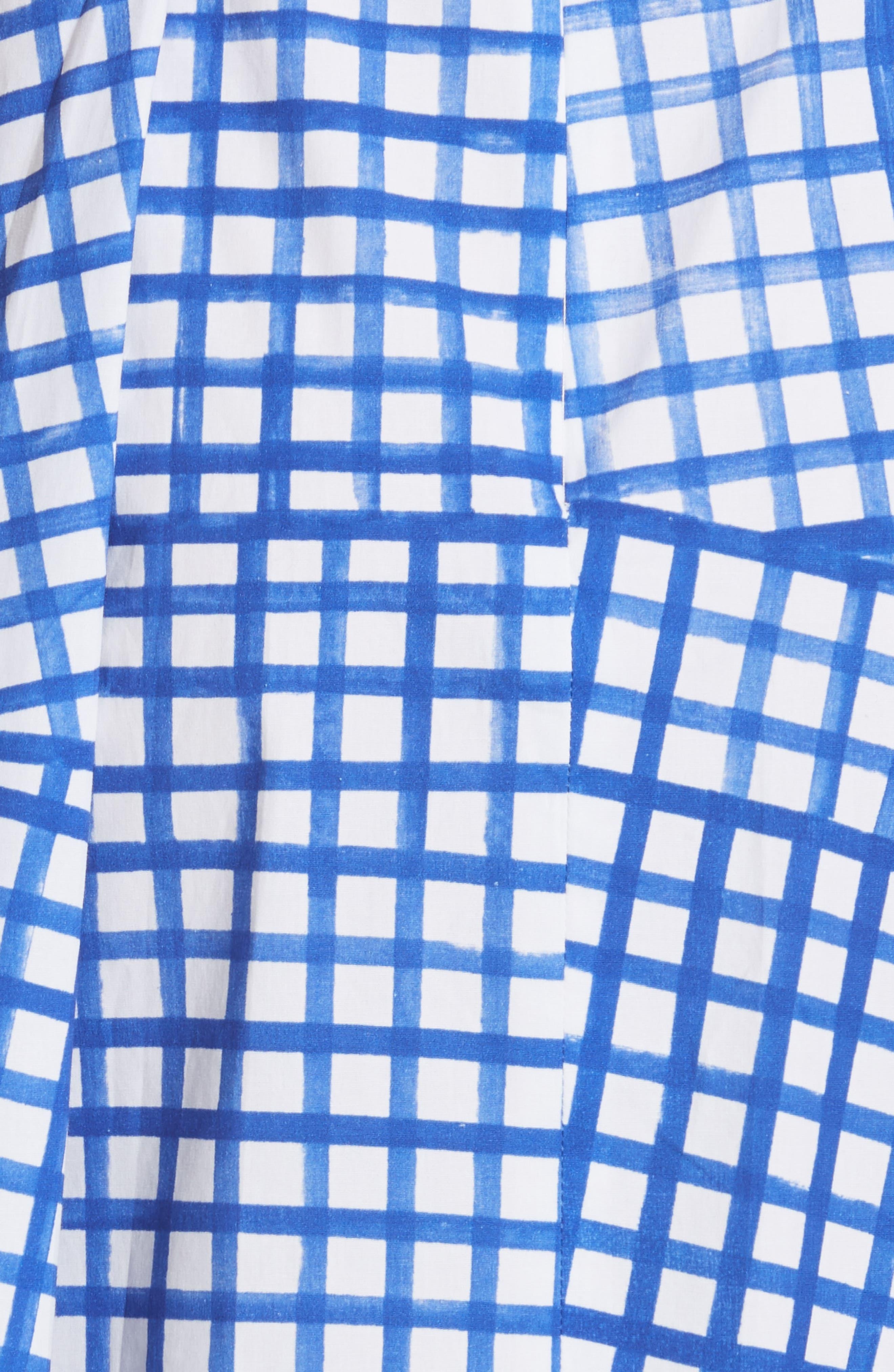 Paige Stretch Cotton Halter Dress,                             Alternate thumbnail 5, color,                             Blueberry