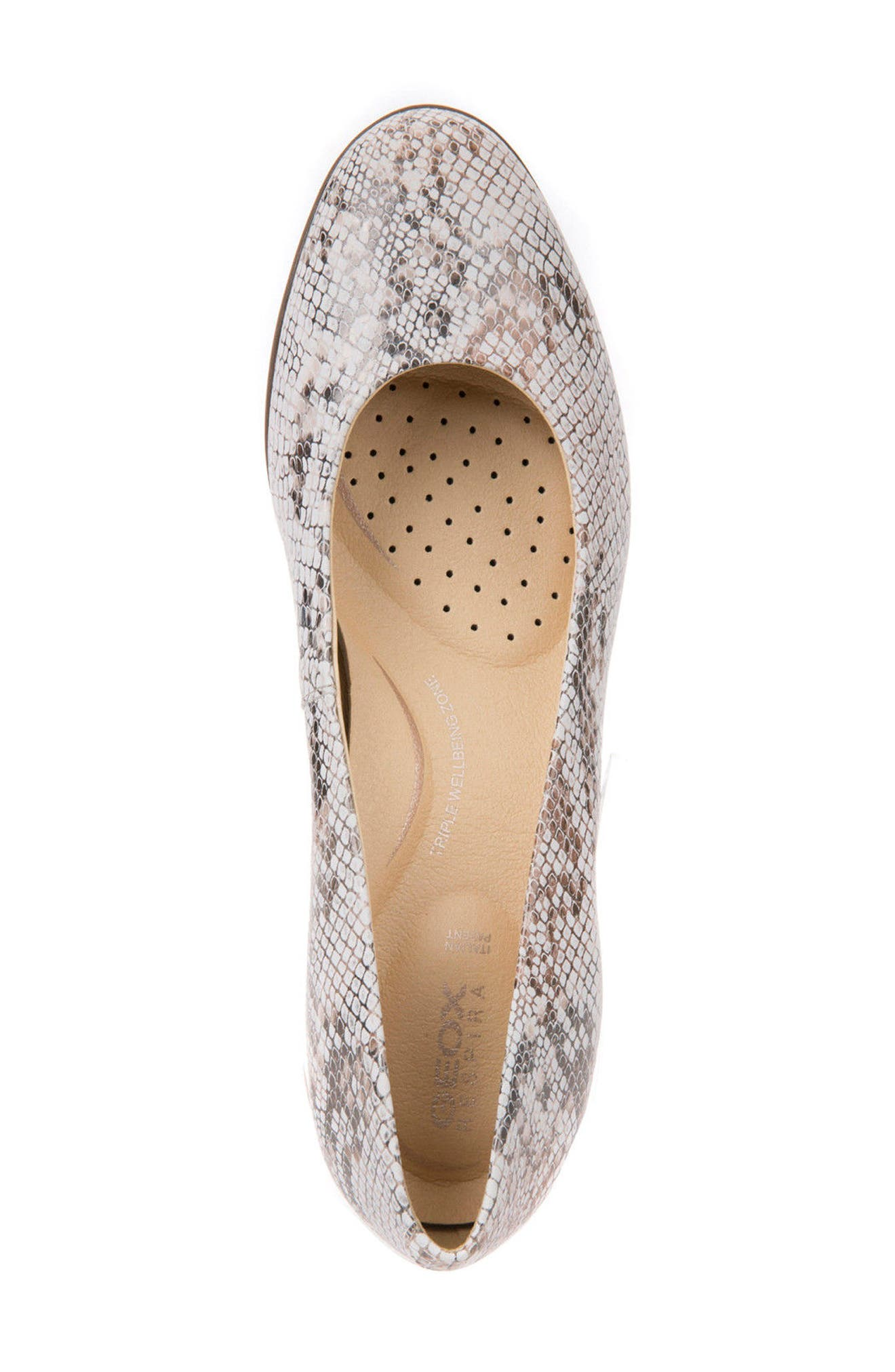 Annya Pump,                             Alternate thumbnail 4, color,                             Off White Snake Print