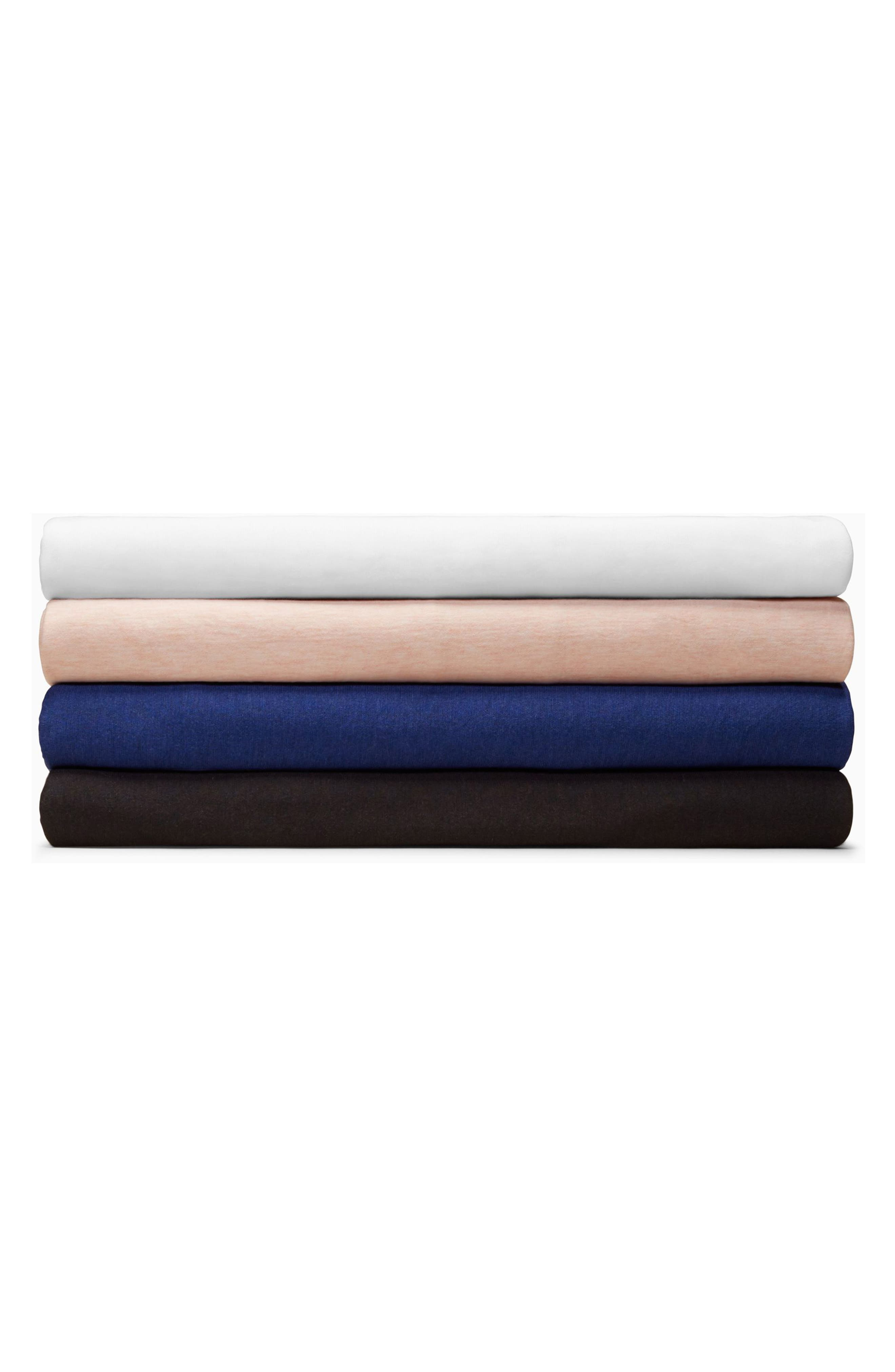 Calvin Klein Harrison Fitted Sheet,                             Alternate thumbnail 2, color,                             Pink