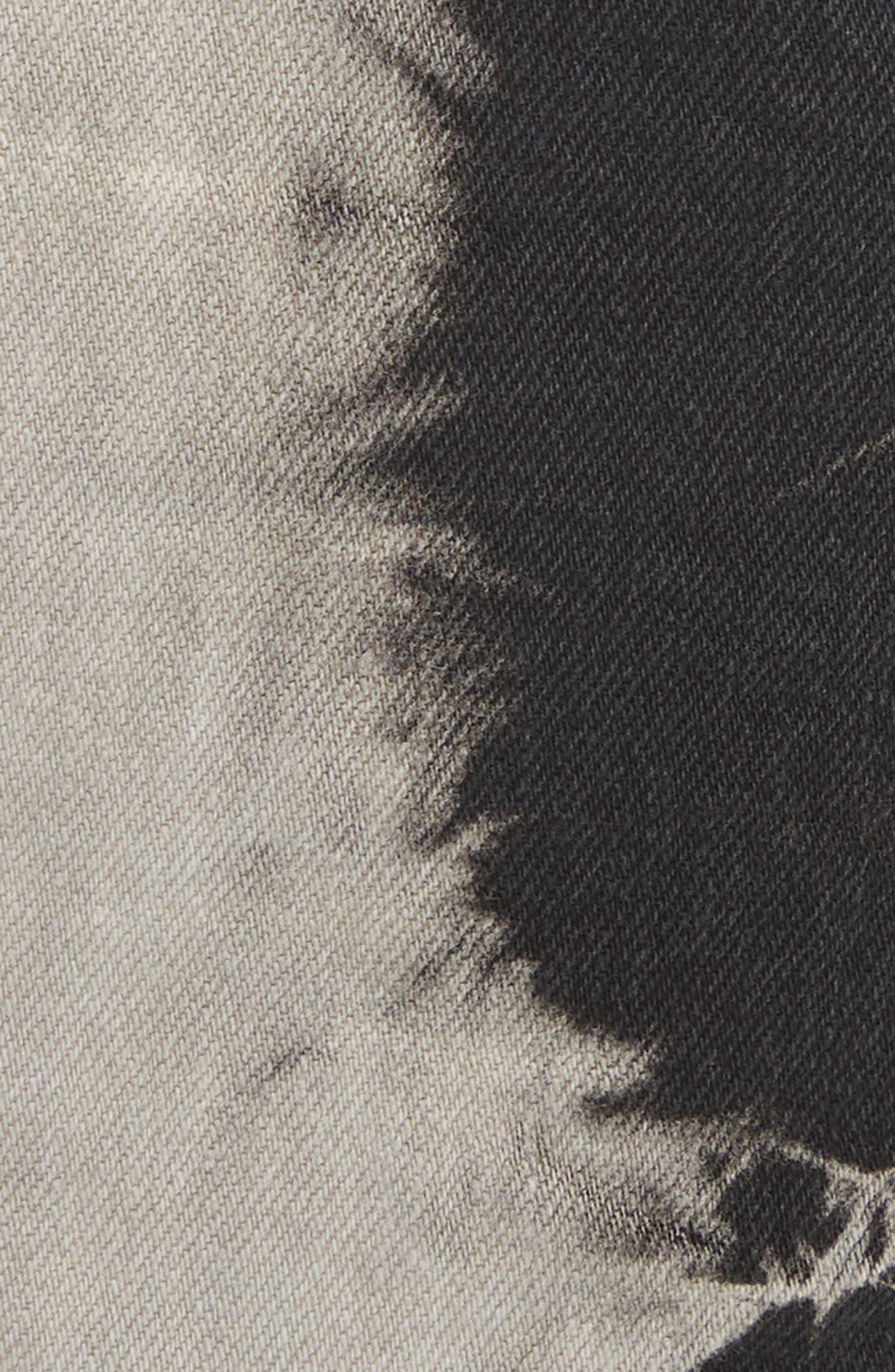 Alternate Image 5  - Ashley Williams Stephanie Tie Dye Denim Miniskirt