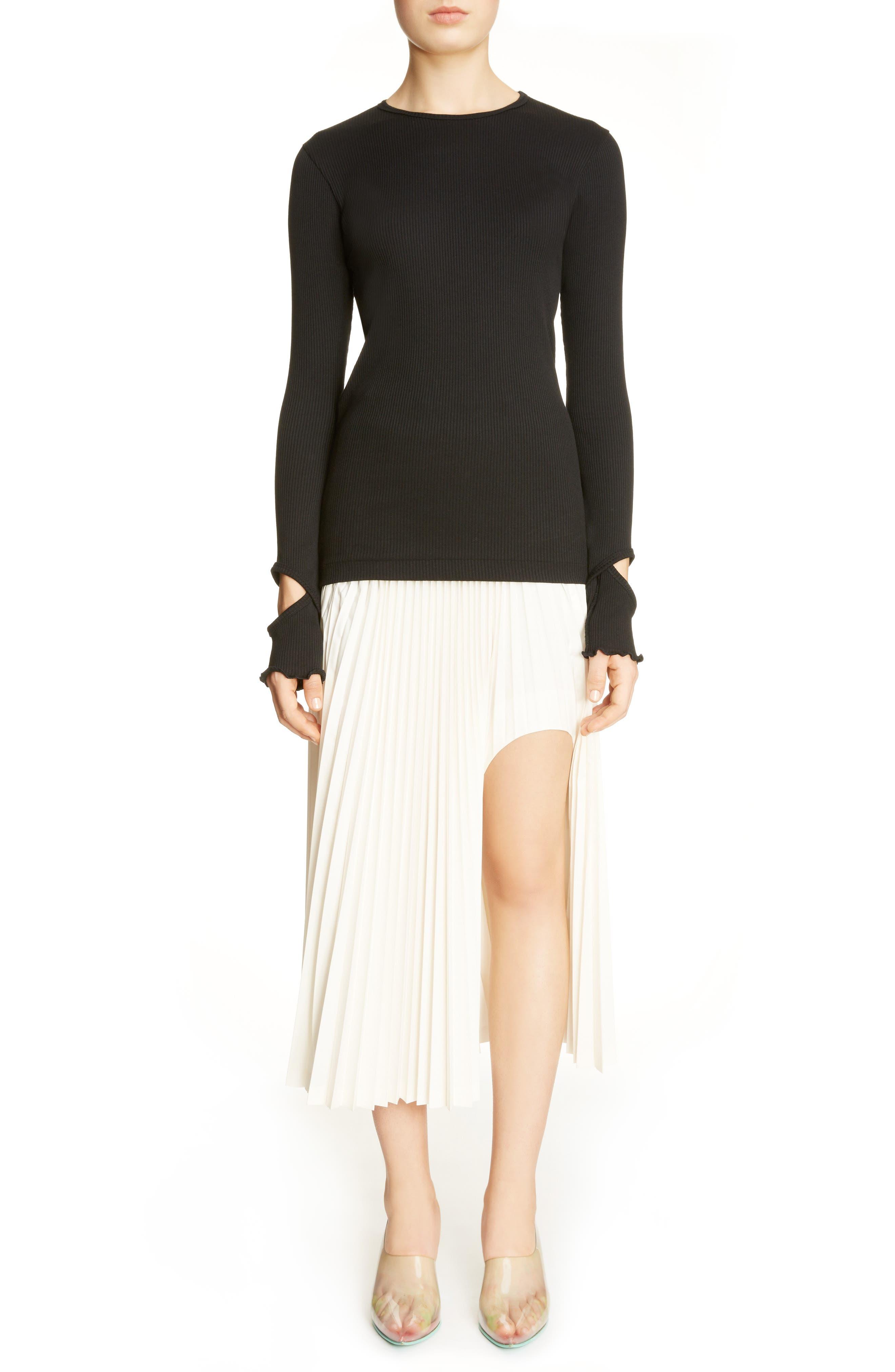 Alternate Image 2  - Toga Pleated Keyhole Skirt