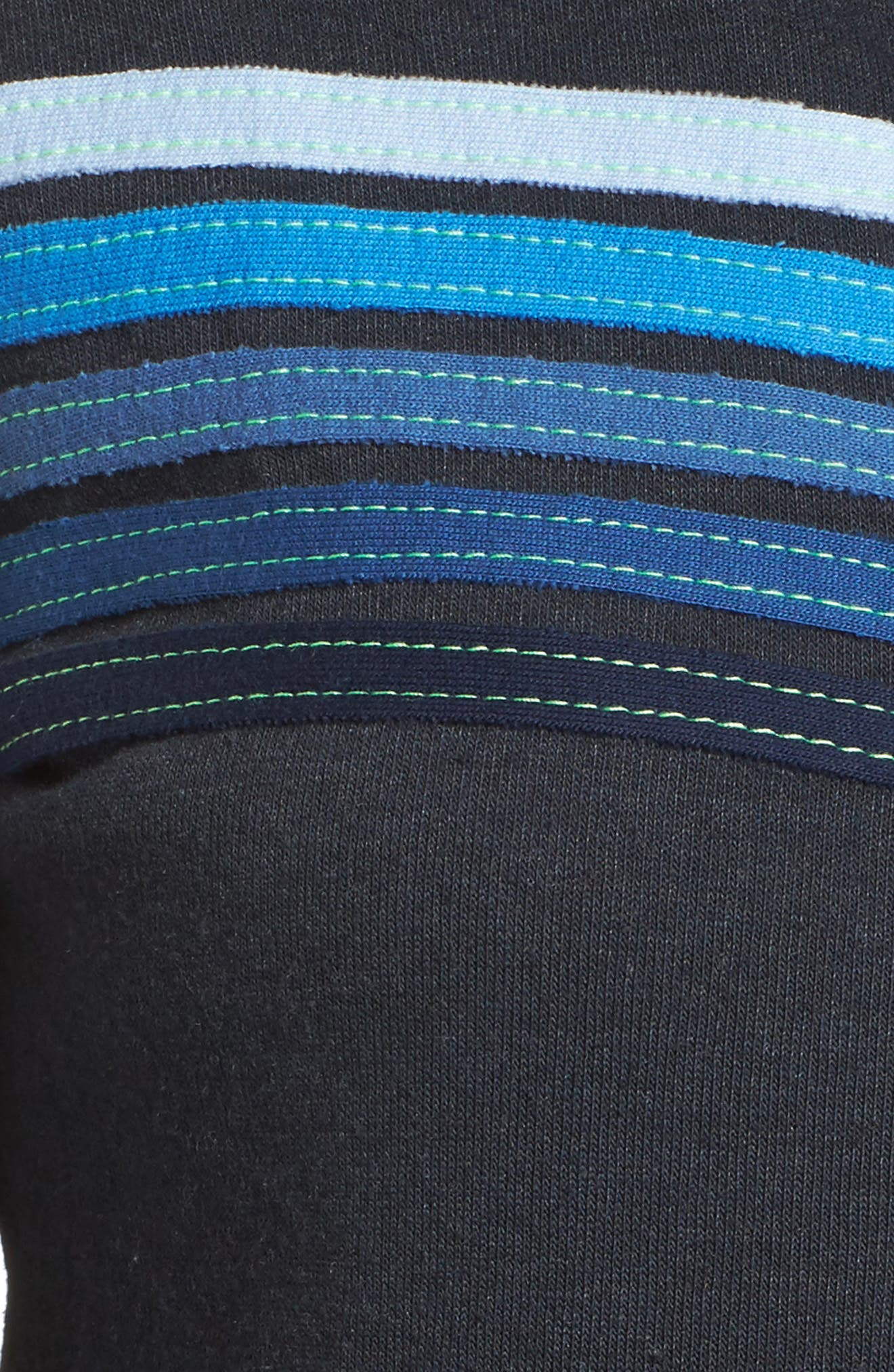 5-Stripe Zip Hoodie,                             Alternate thumbnail 6, color,                             Charb