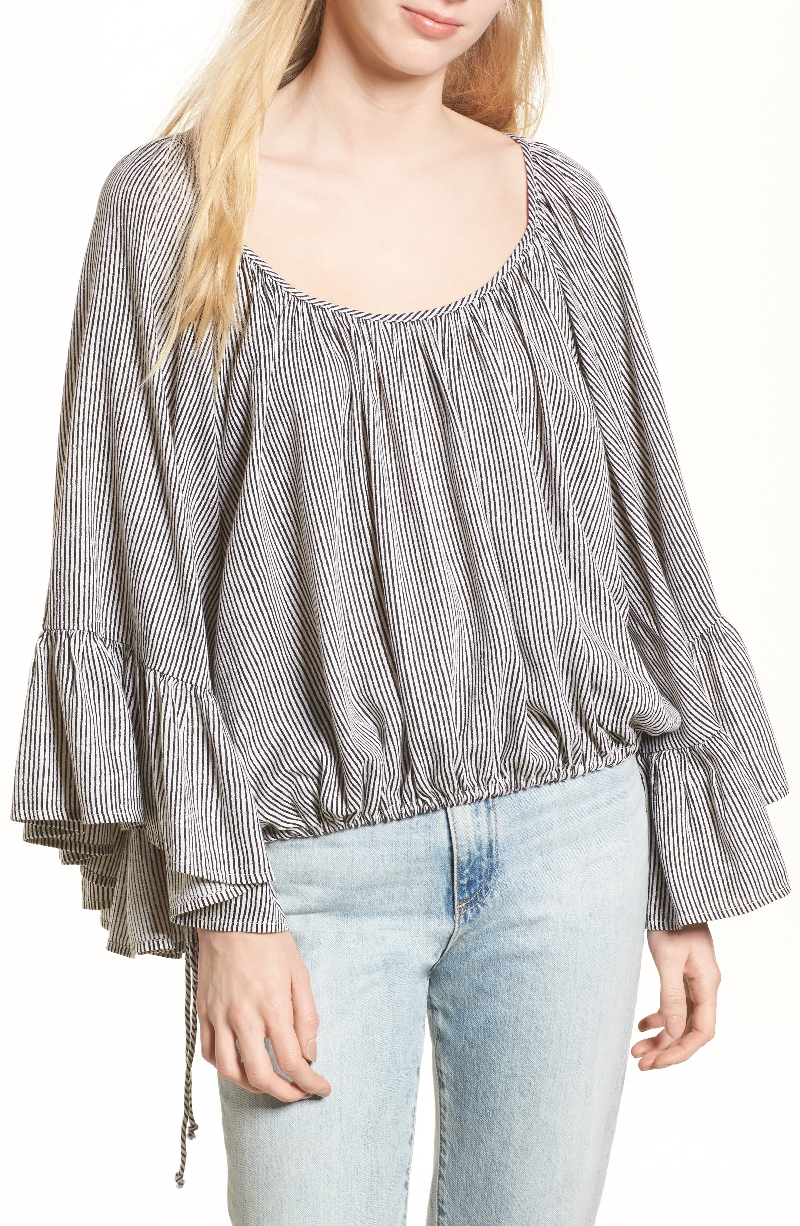More Love Ruffle Sleeve Top,                         Main,                         color, Ivory