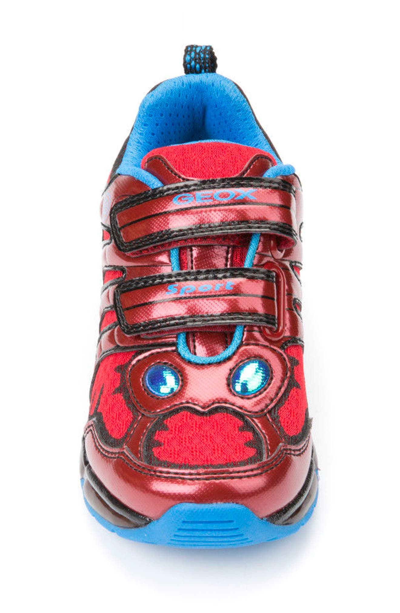 Android Light-Up Sneaker,                             Alternate thumbnail 4, color,                             Red