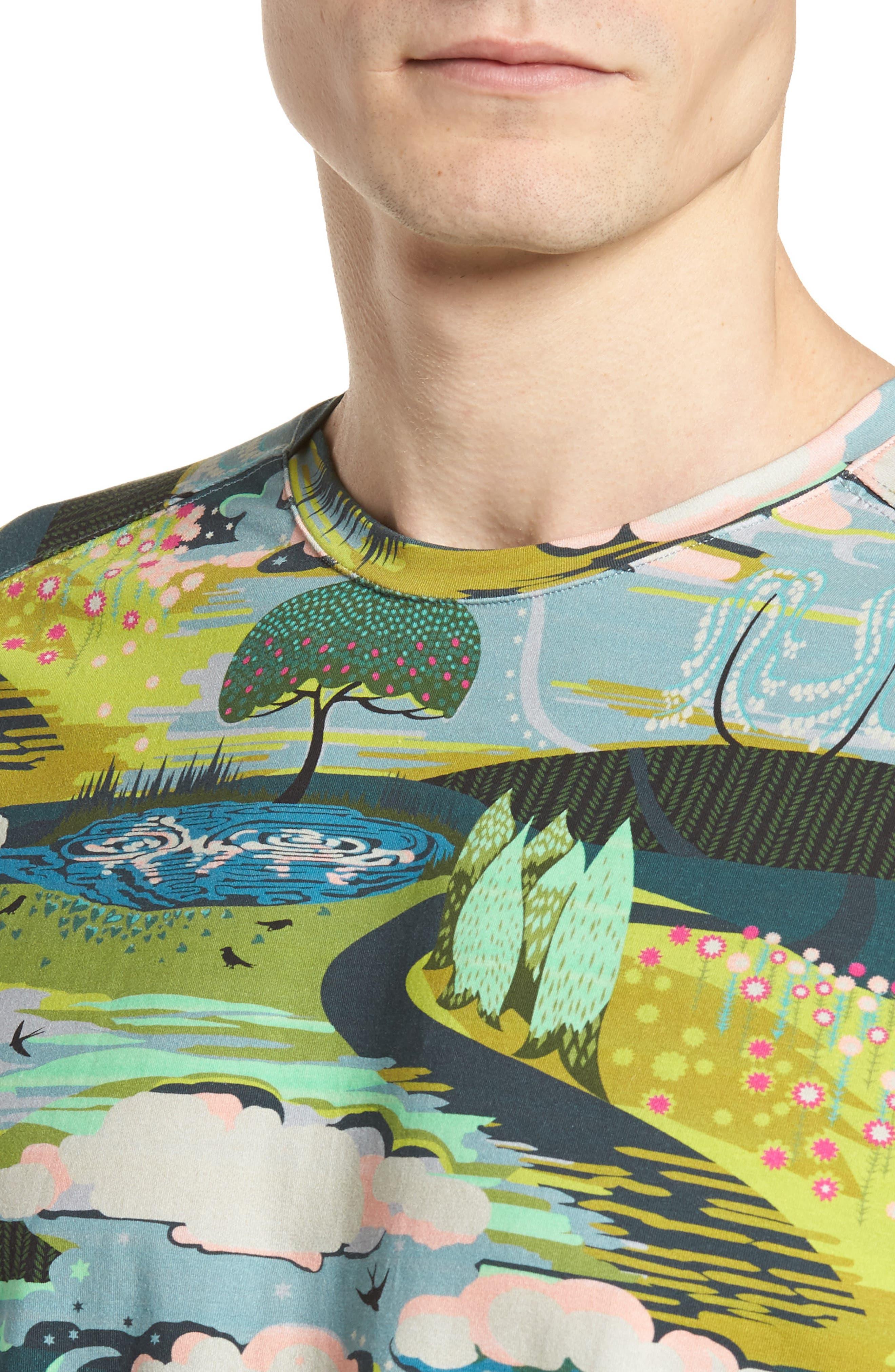 Lost Dream Print T-Shirt,                             Alternate thumbnail 4, color,                             Multi